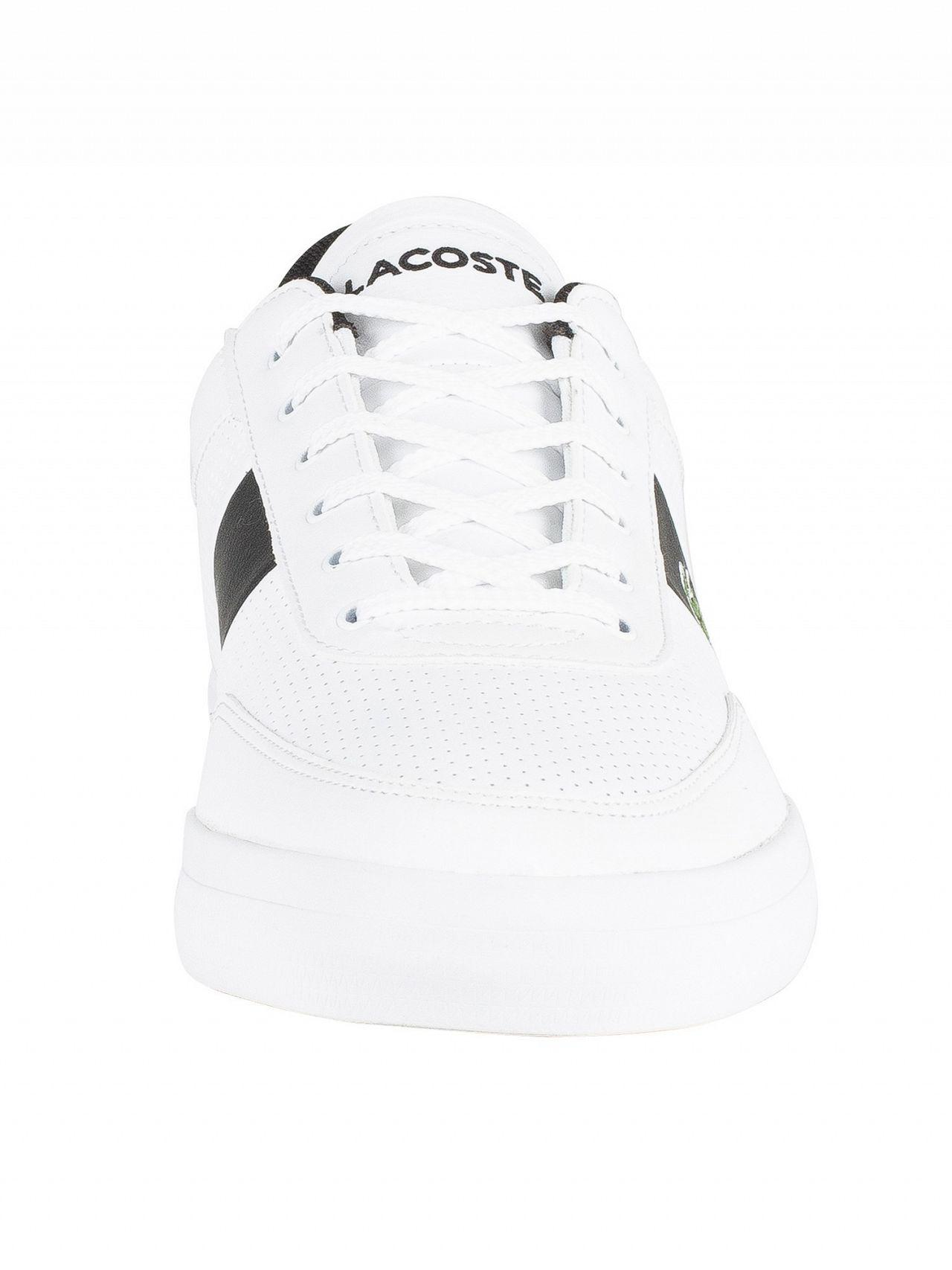 38be99760 Lyst - Lacoste White black Court-master 119 2 Leather Trainers in White for  Men - Save 20%