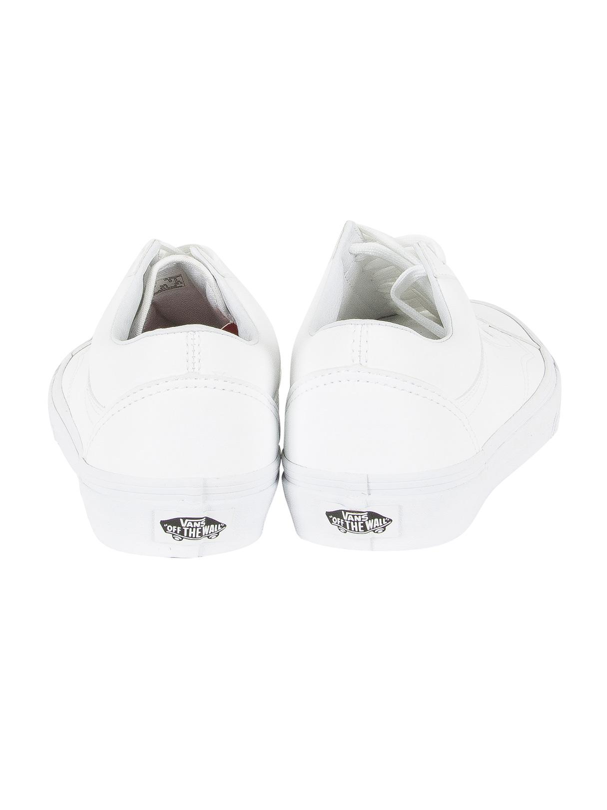 Vans Rubber True White Old Skool Classic Tumble Trainers for Men