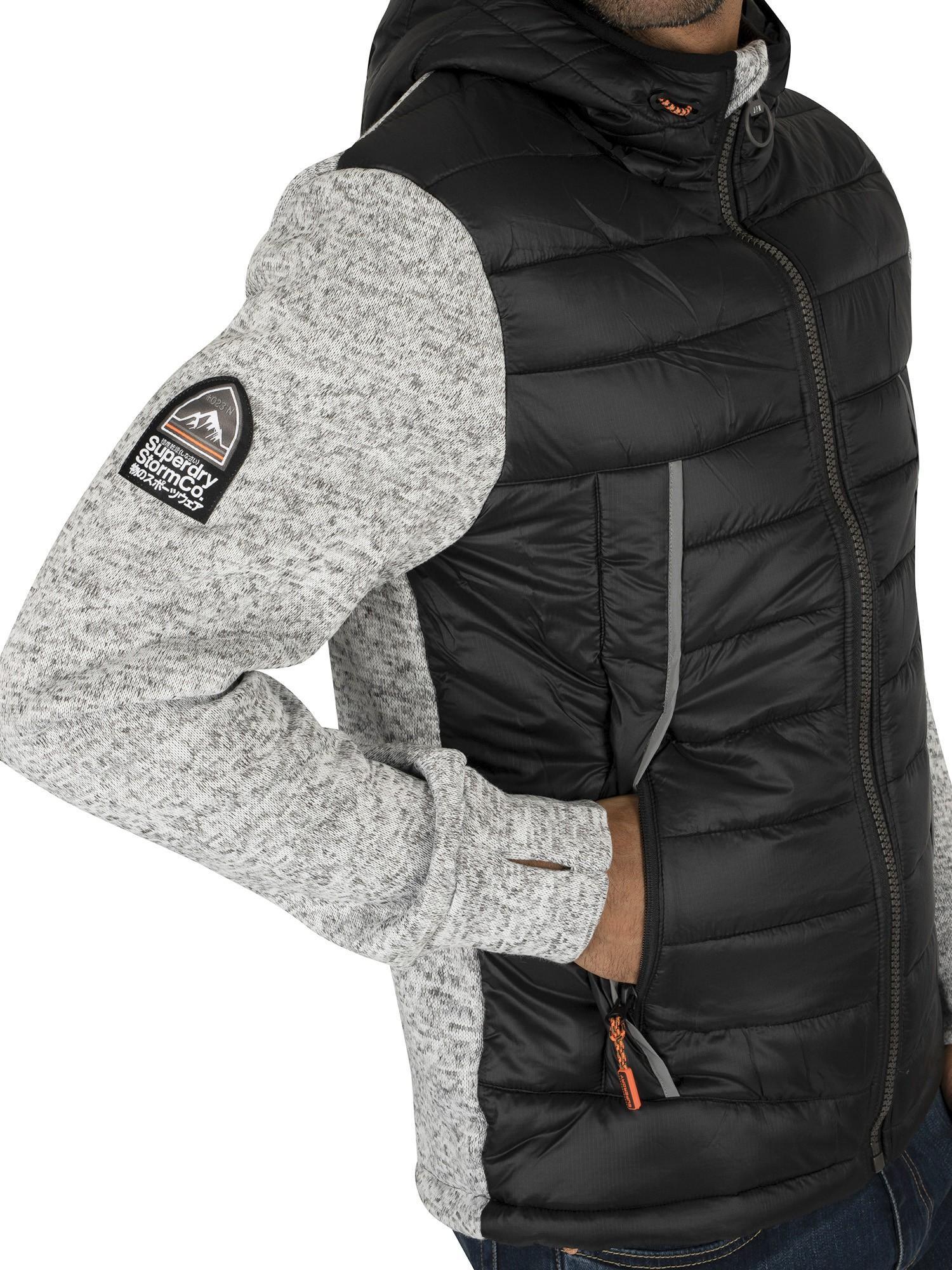 Grey Superdry Men/'s Storm Flash Hybrid Jacket
