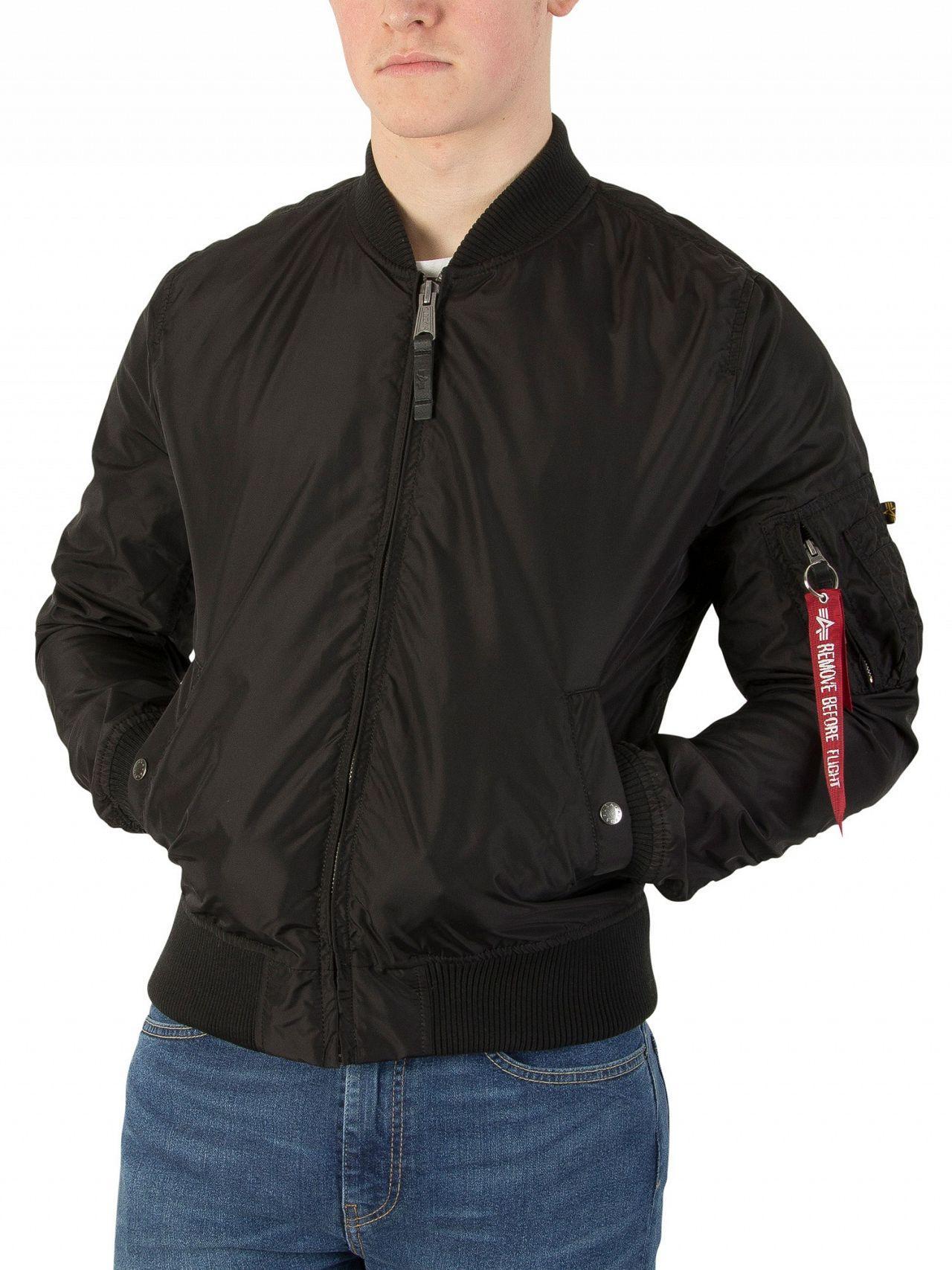 Alpha Industries Synthetic Black Ma-1 Tt Bomber Jacket for Men