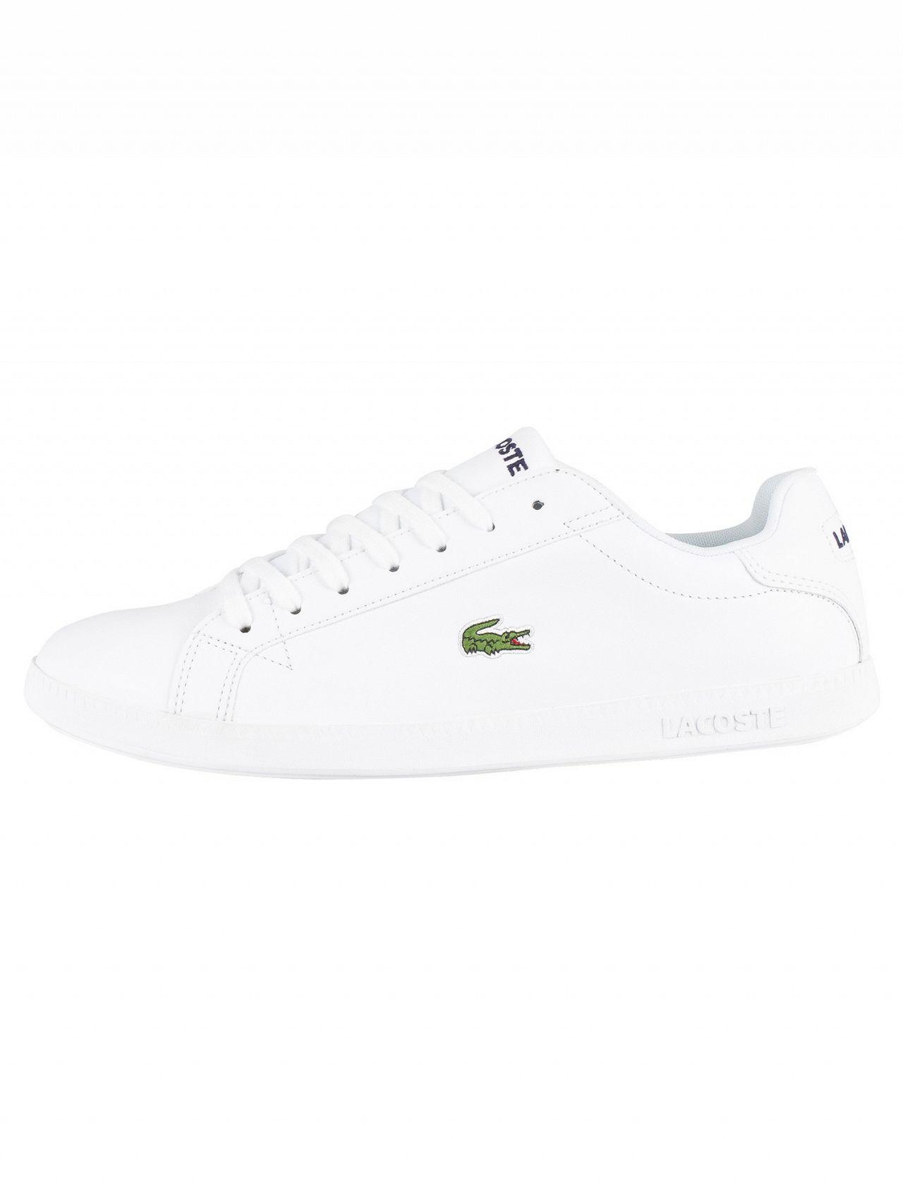 f86c4146c67 Lyst - Lacoste White white Graduate Bl 1 Leather Trainers in White for Men
