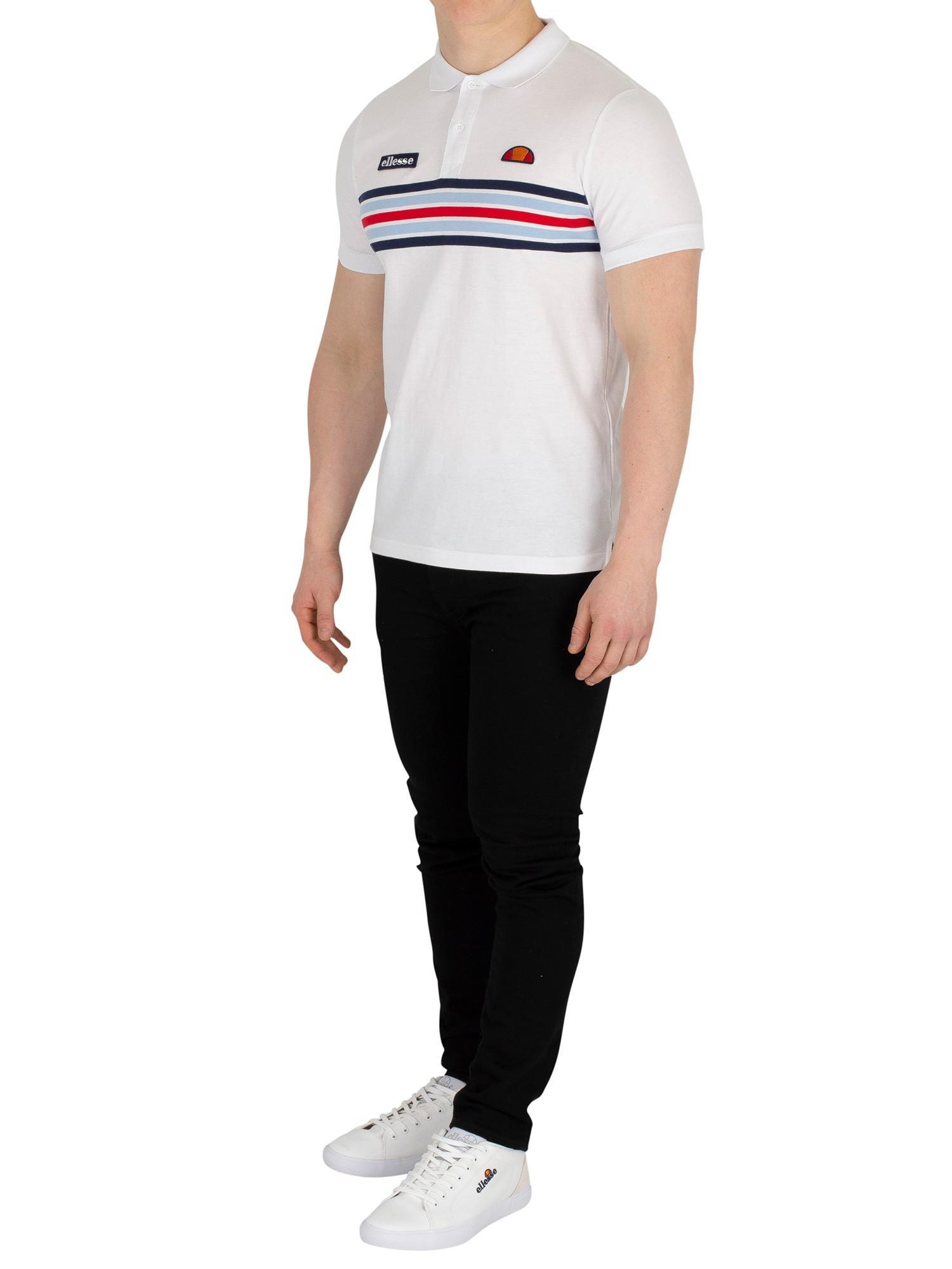 perspective caustic Van  Ellesse Cotton Pesaro Poloshirt in White for Men - Lyst
