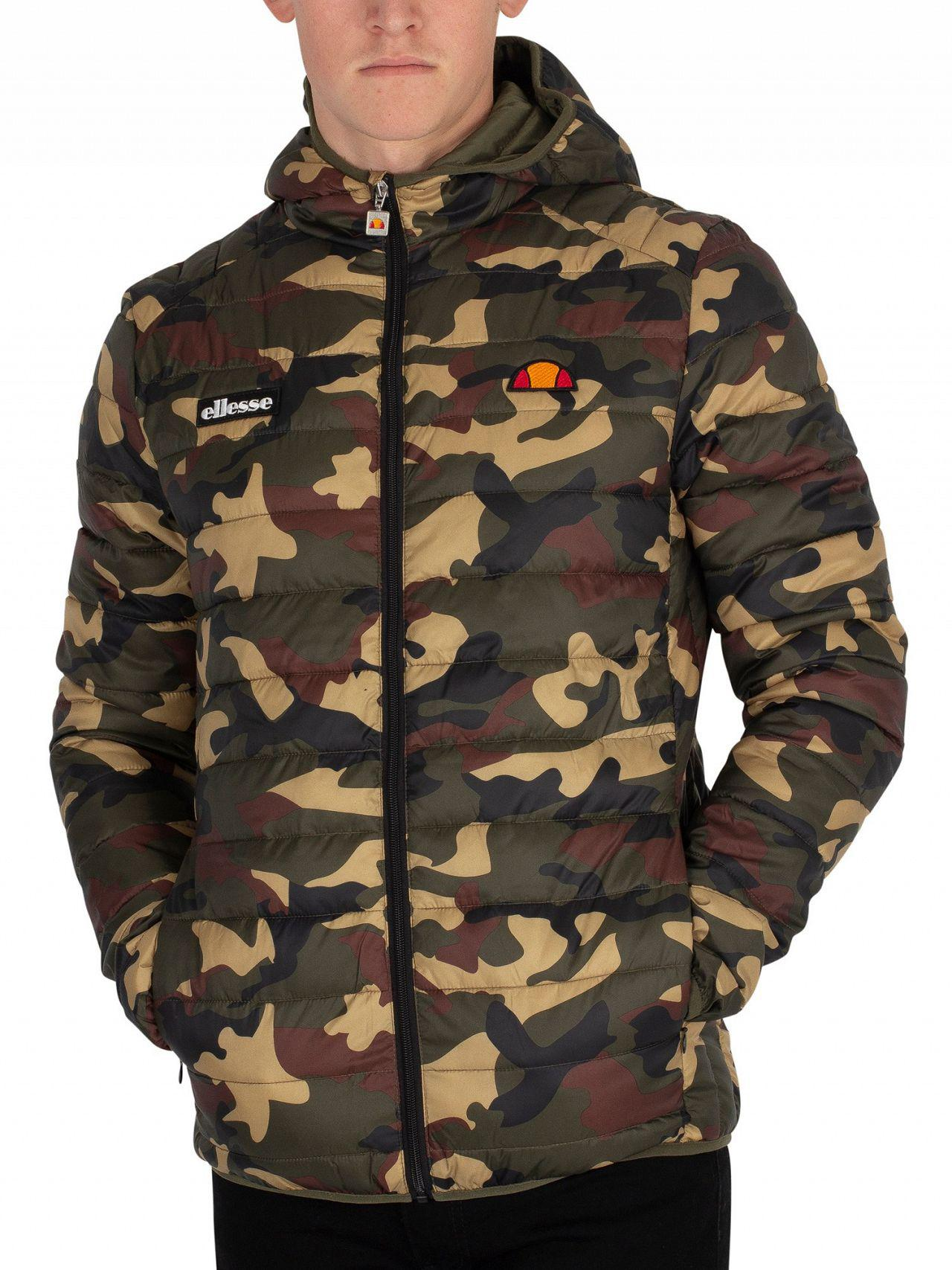 For Lyst Lombardy Jacket Camo Men Ellesse Padded zxYwIaa7