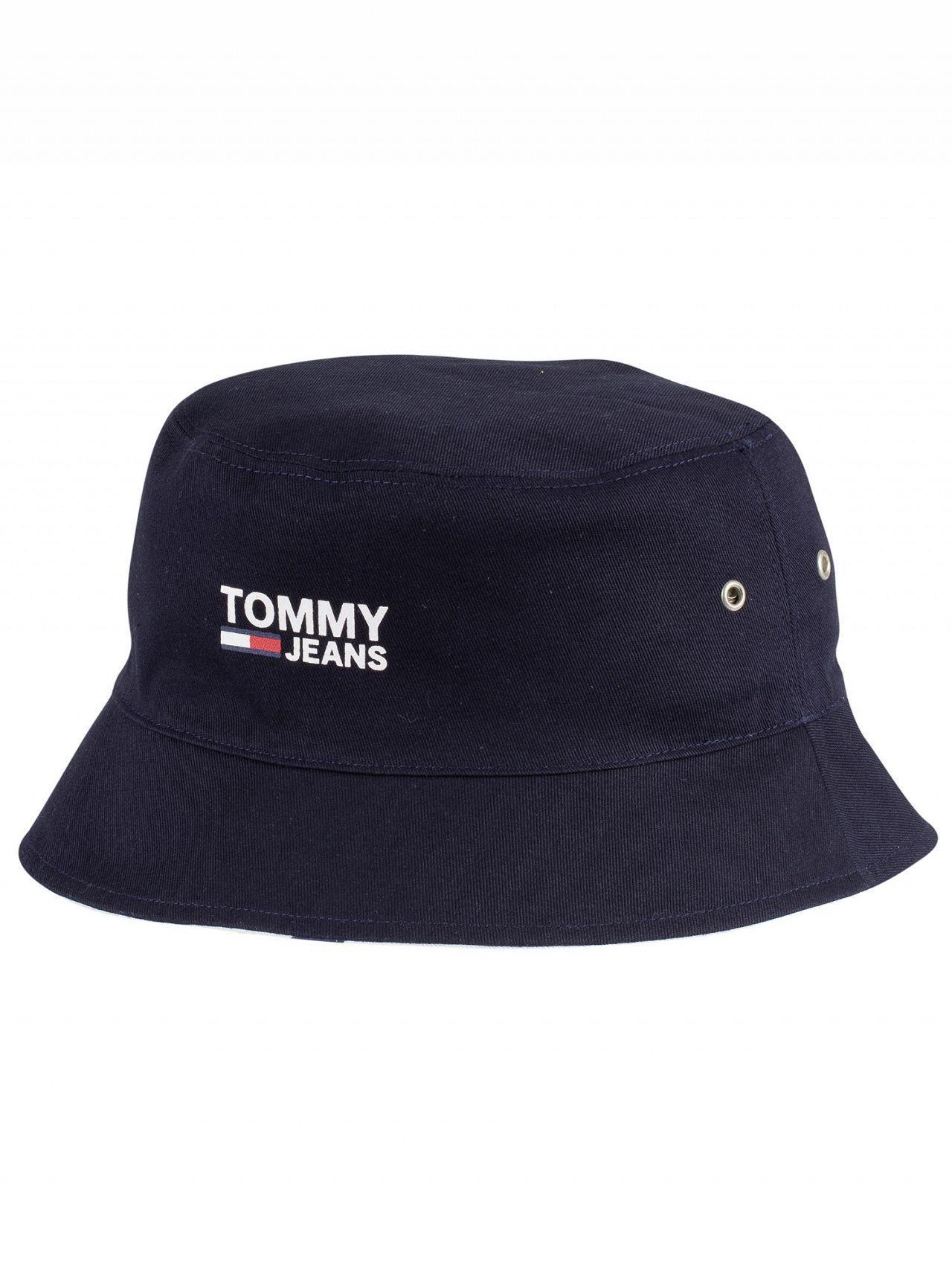 e090cef7 Tommy Hilfiger - Classic White Logo Reversible Bucket Hat for Men - Lyst.  View fullscreen