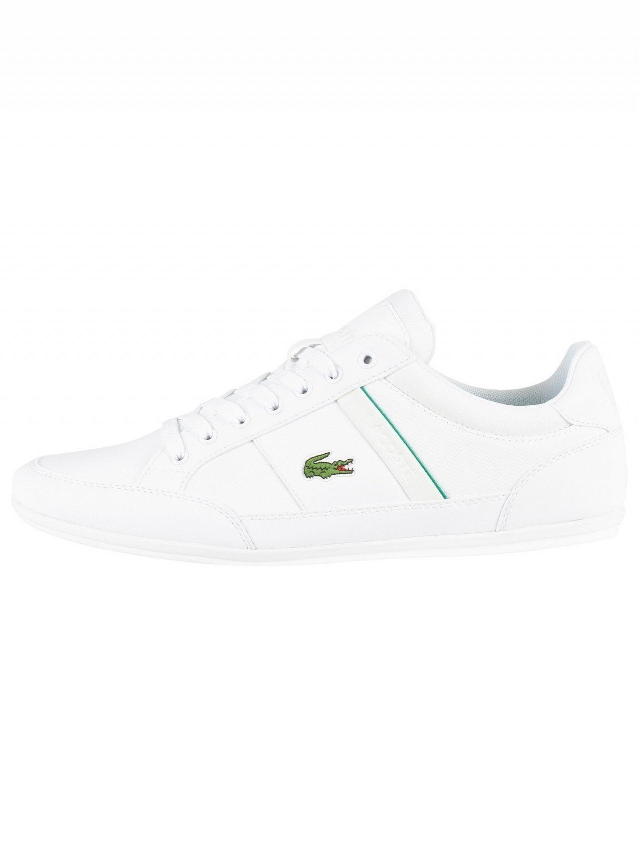 dce475c21 Lacoste - White Chaymon 219 1 Cma Leather Trainers for Men - Lyst. View  fullscreen