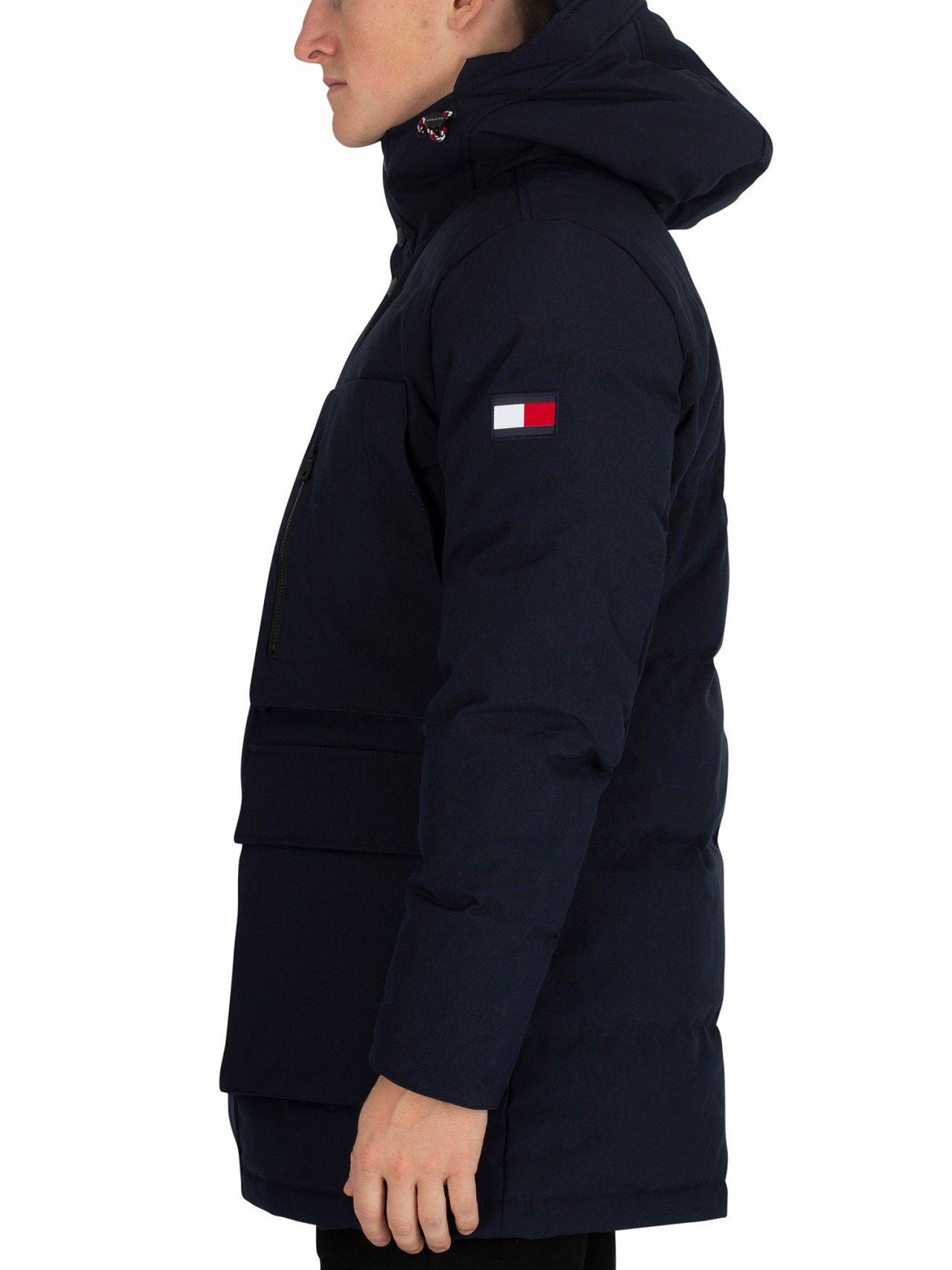 Lyst - Tommy Hilfiger Sky Captain Heavy Canvas Down Parka Jacket in ... d0ef75bb2