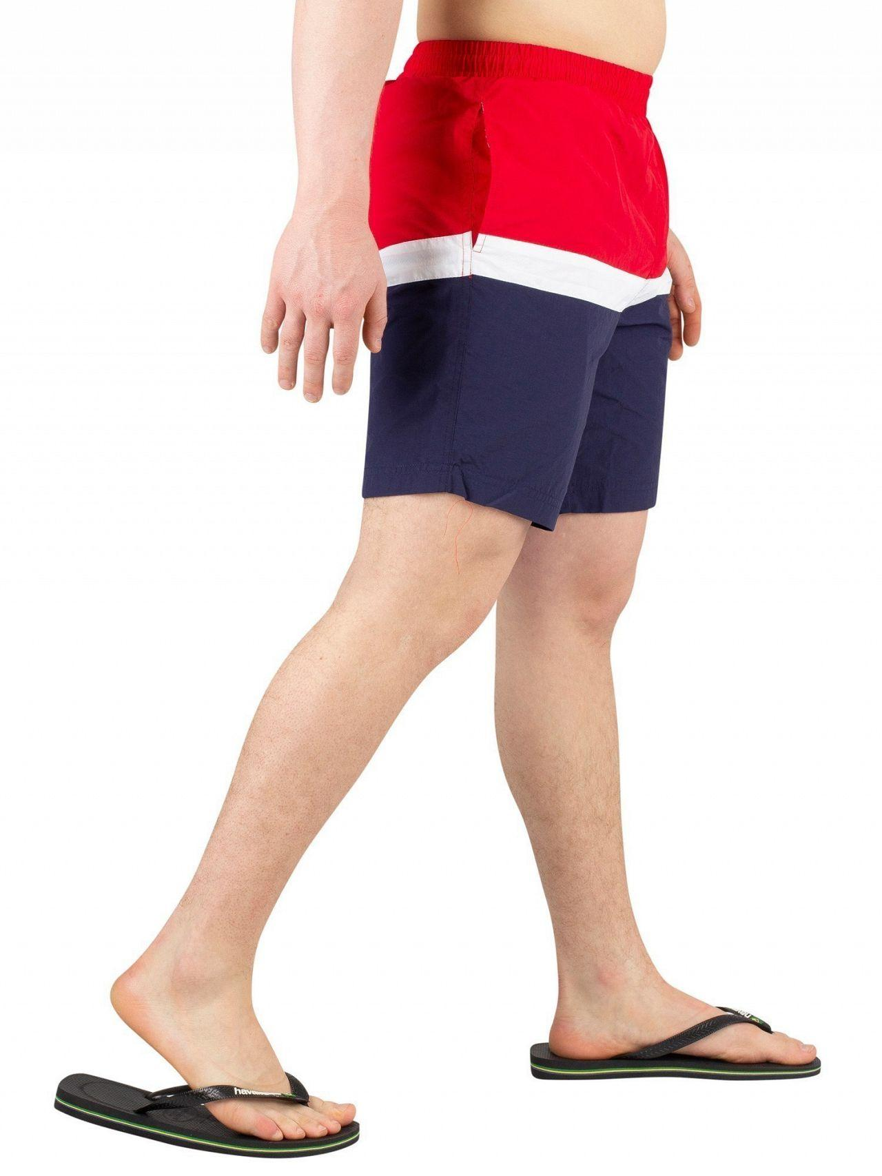 19f036ea25 Fila Chinese Red Peter Colour Block Swimshorts in Red for Men - Lyst