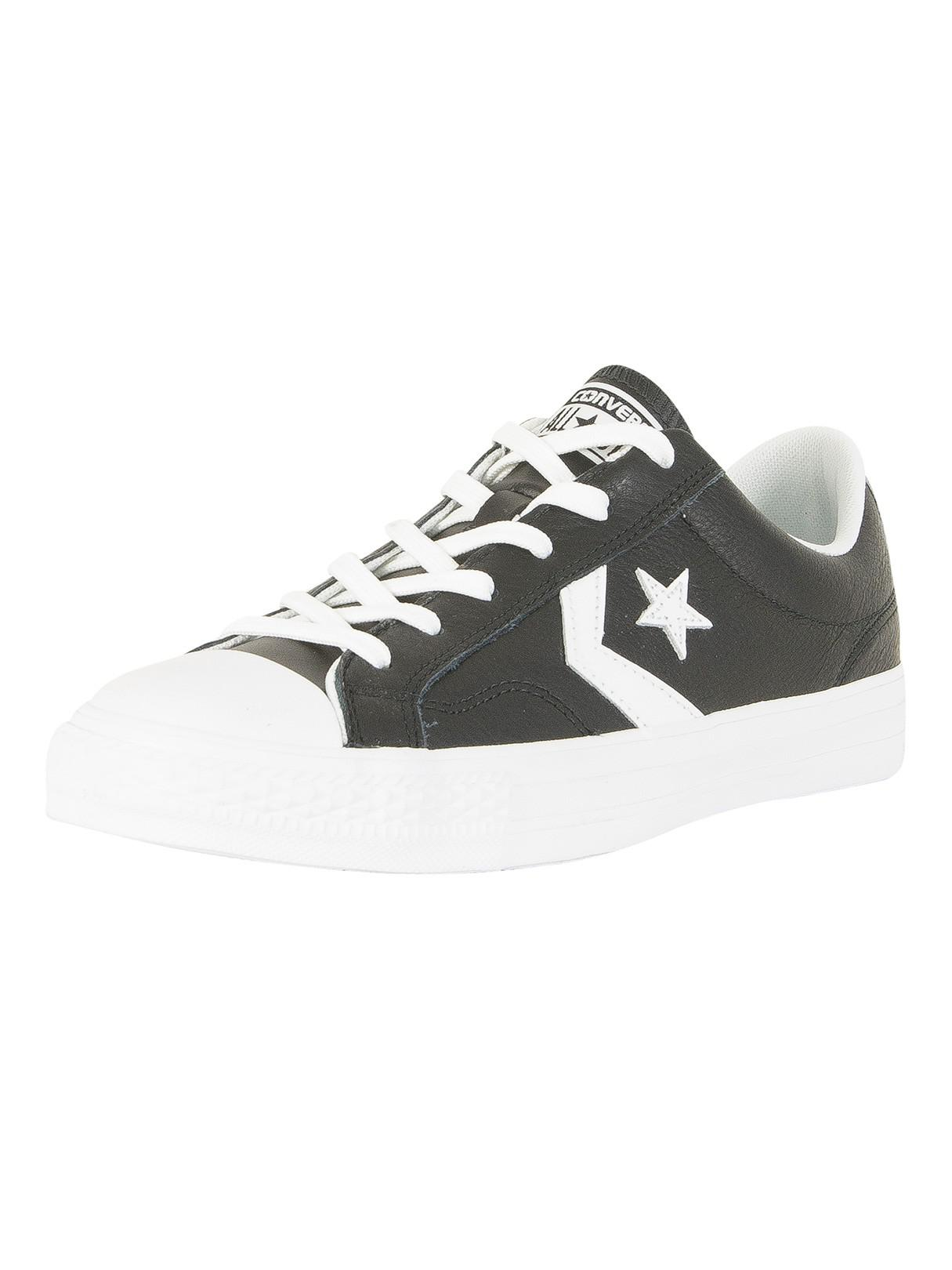 5d3956cfbf61 Lyst - Converse Black white Star Player Ox Trainers in Black for Men