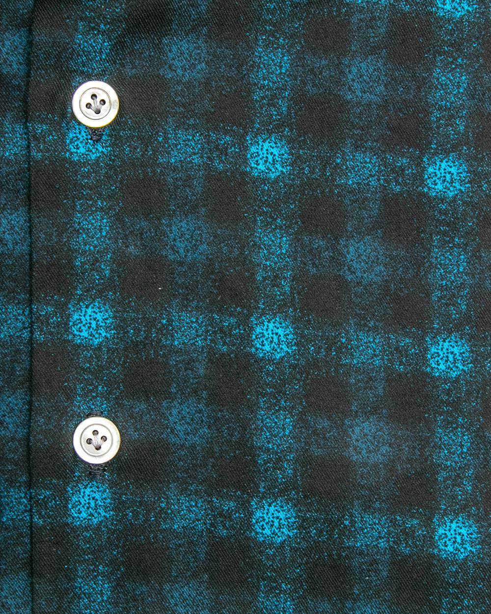 59009345f6 Lyst - Kiton Aqua Check Flannel Dress Shirt in Blue for Men