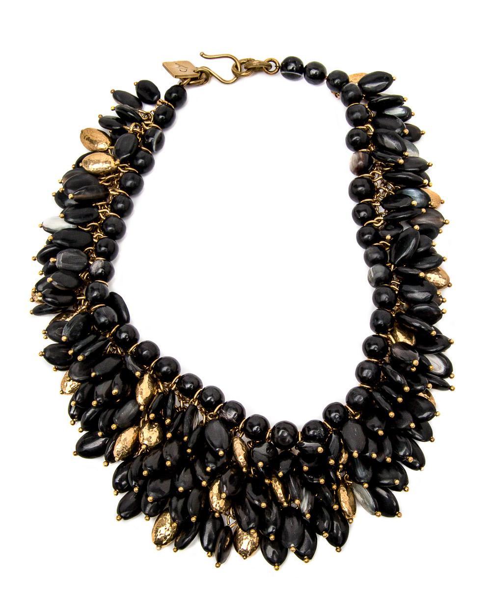 Ashley Pittman Kalamu Layered Dark Horn Necklace 4rp8oRfLM