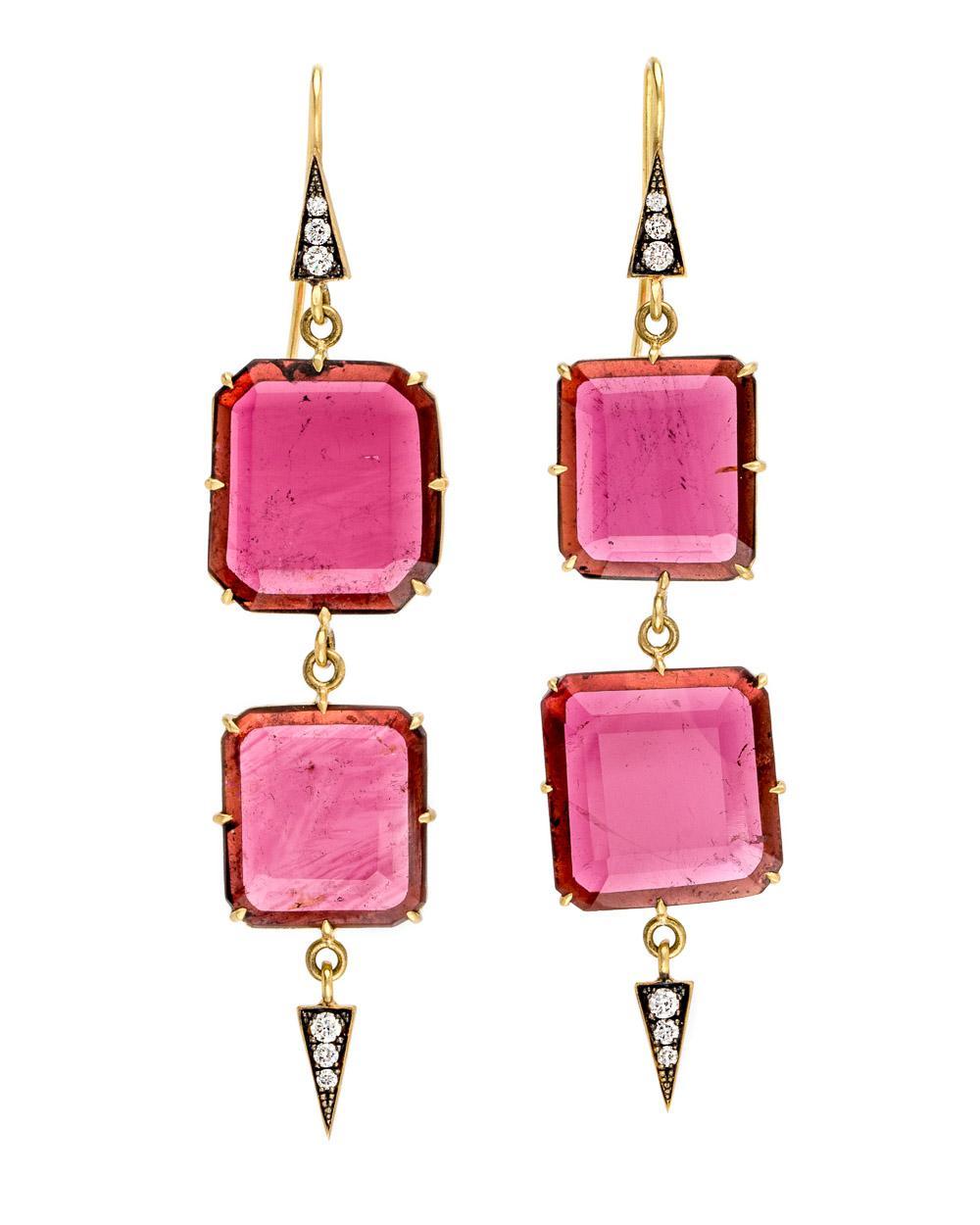Ruby Drop Earrings Sylva & Cie. C4o2zF