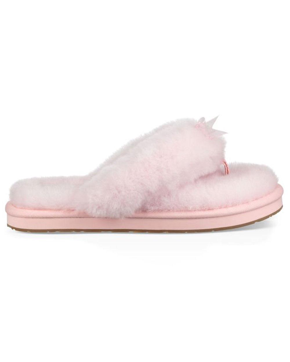 0bbf5fa5f640 Lyst - UGG Seashell Pink Fluff Flip Flop in Pink