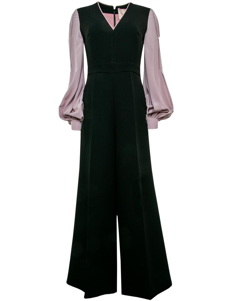 7a847384bc9 Lyst - ROKSANDA Crepe De Chine Tonia Jumpsuit in Black