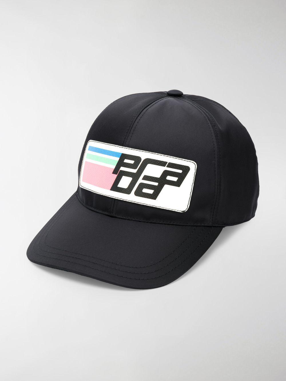 6c78937ac47 Lyst - Prada Logo Baseball Cap in Black