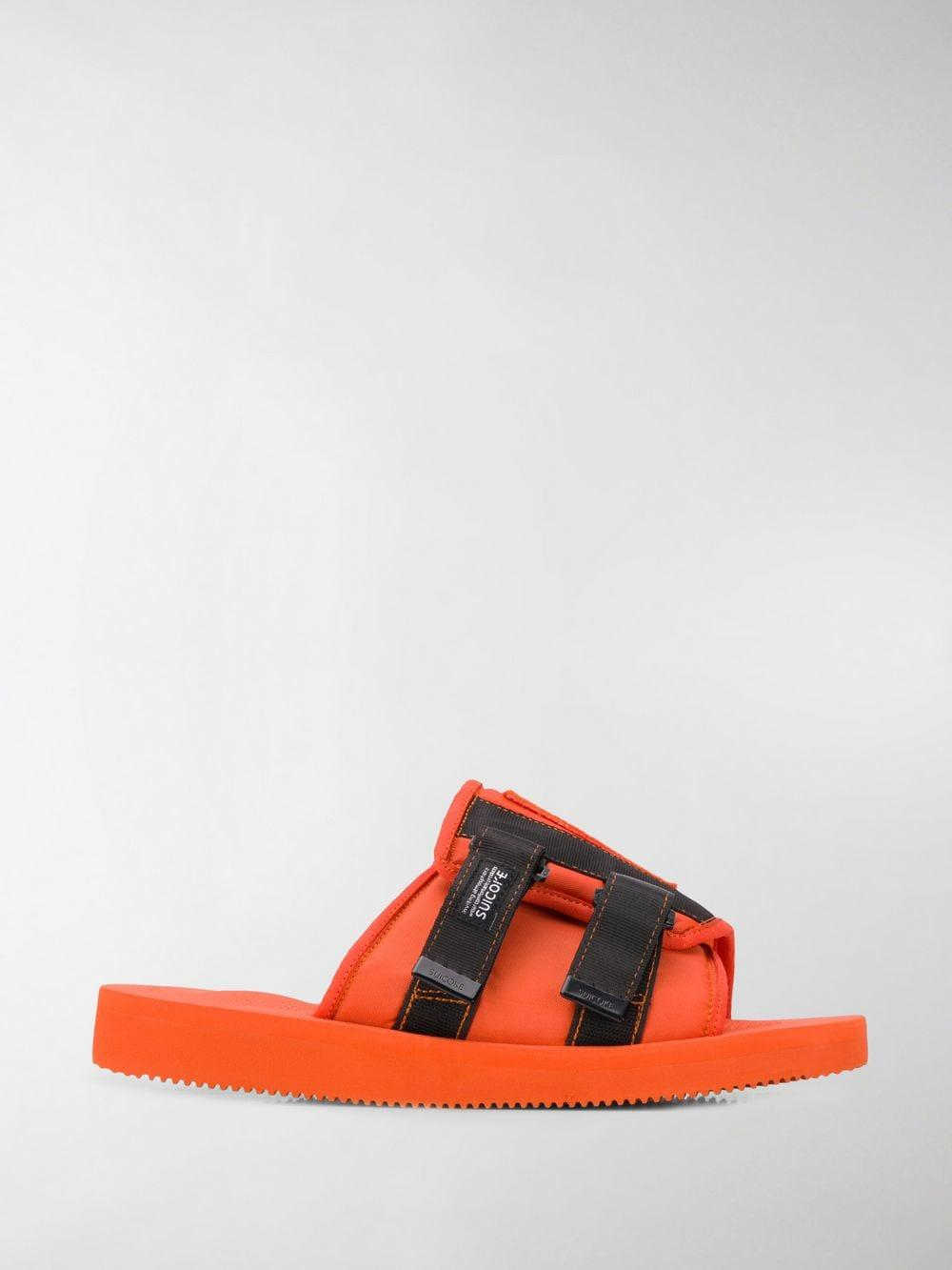 fac8ec74bd7 Lyst - Palm Angels X Suicoke Patch Slider in Orange for Men - Save 30%
