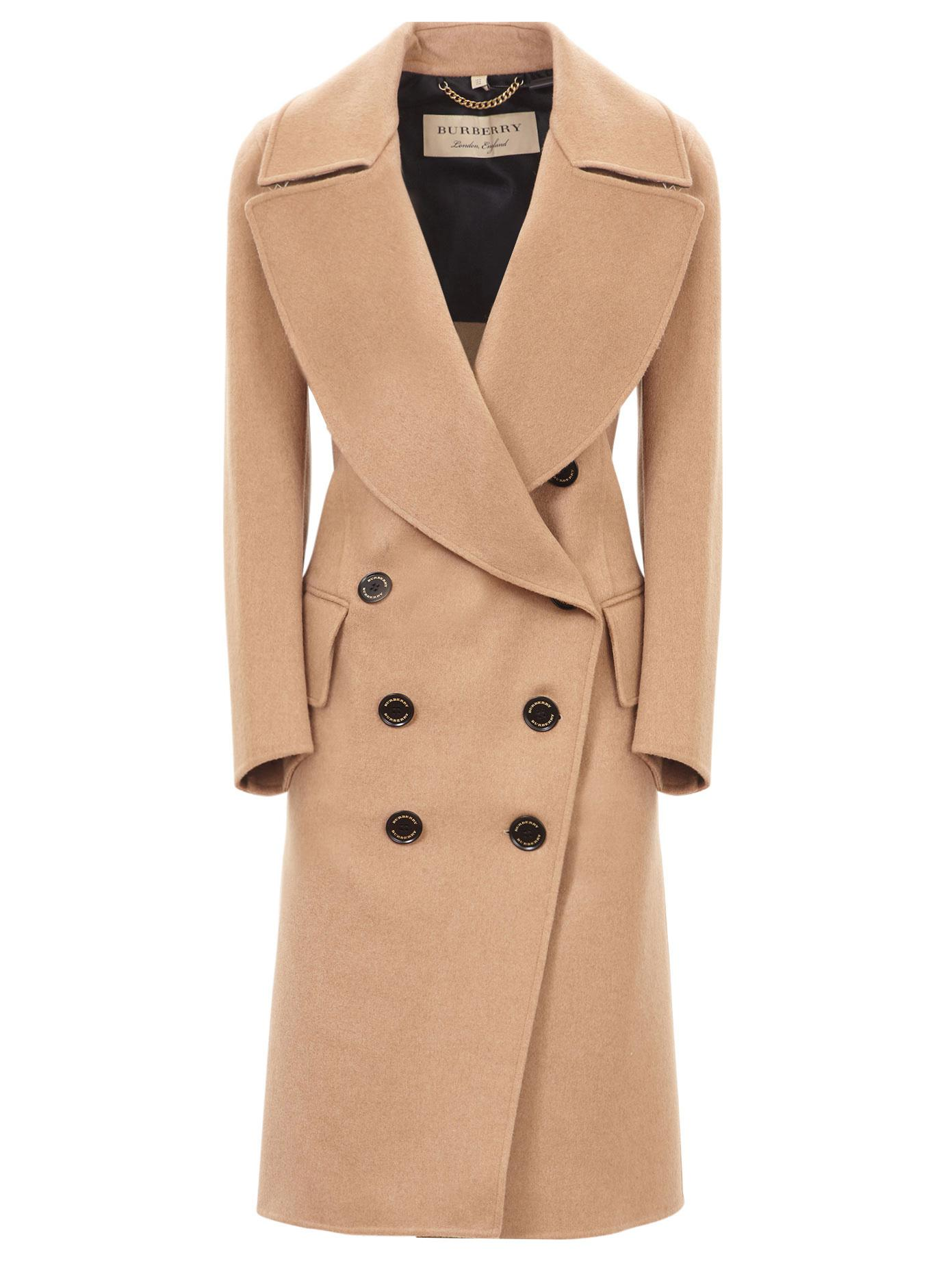 1919817e045cdd Lyst - Burberry Double Breasted Camel Hair Coat in Natural