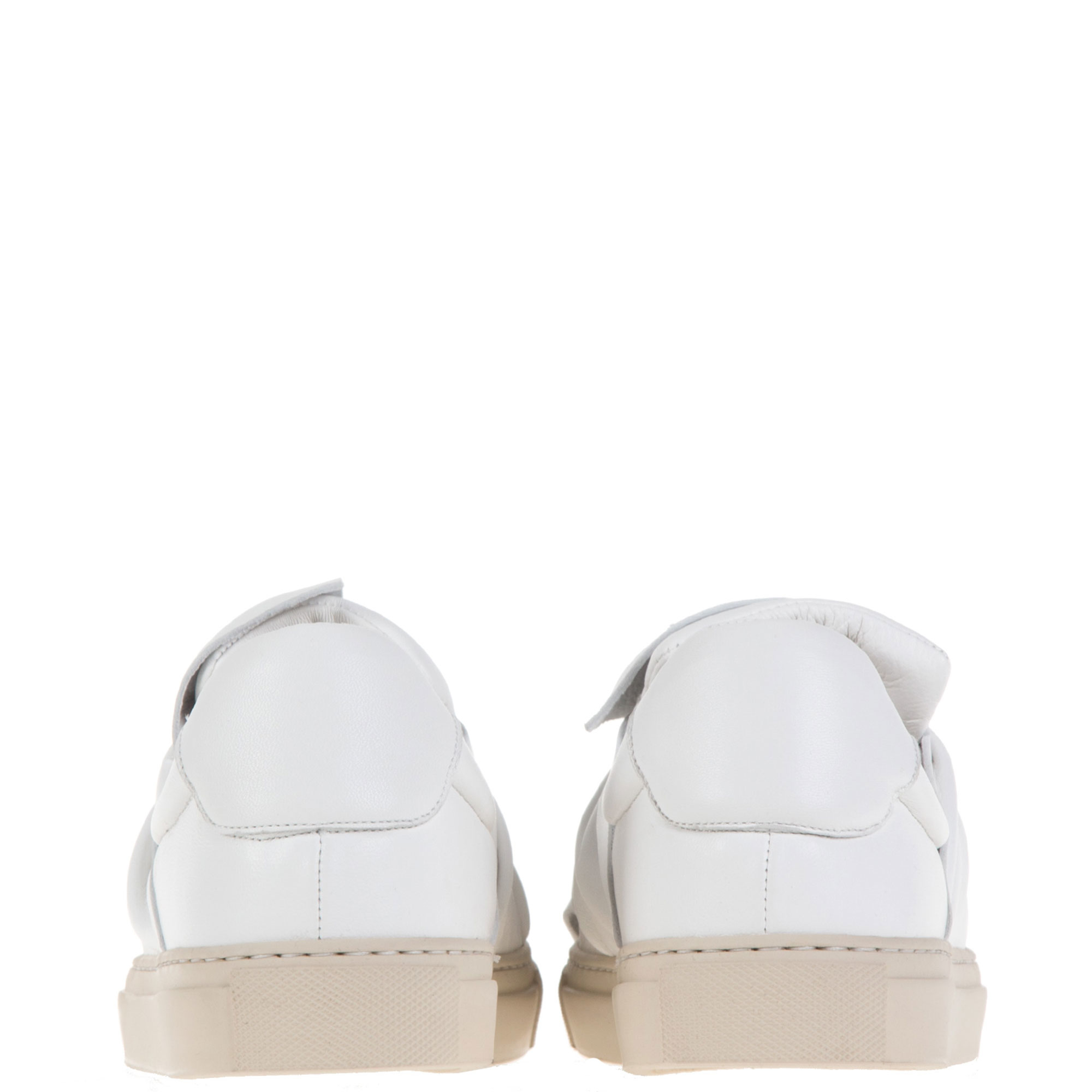 Ports 1961 Bee Lambskin Low-Top Sneakers in White