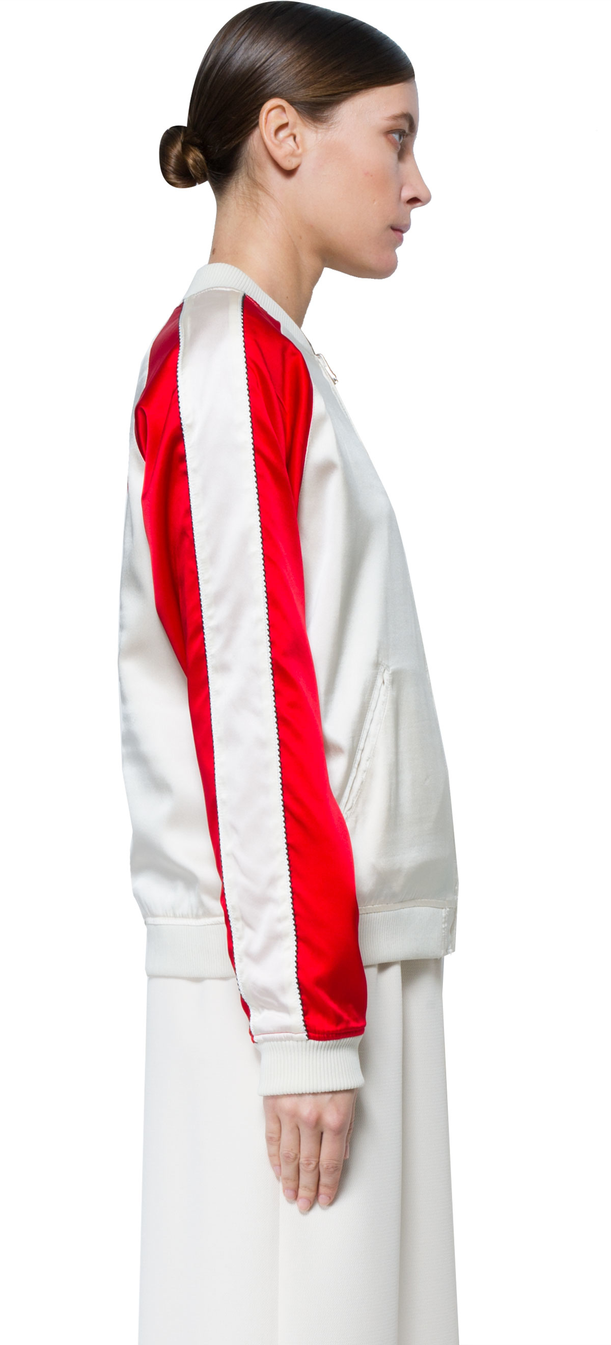 Lyst Opening Ceremony Jacket In Red