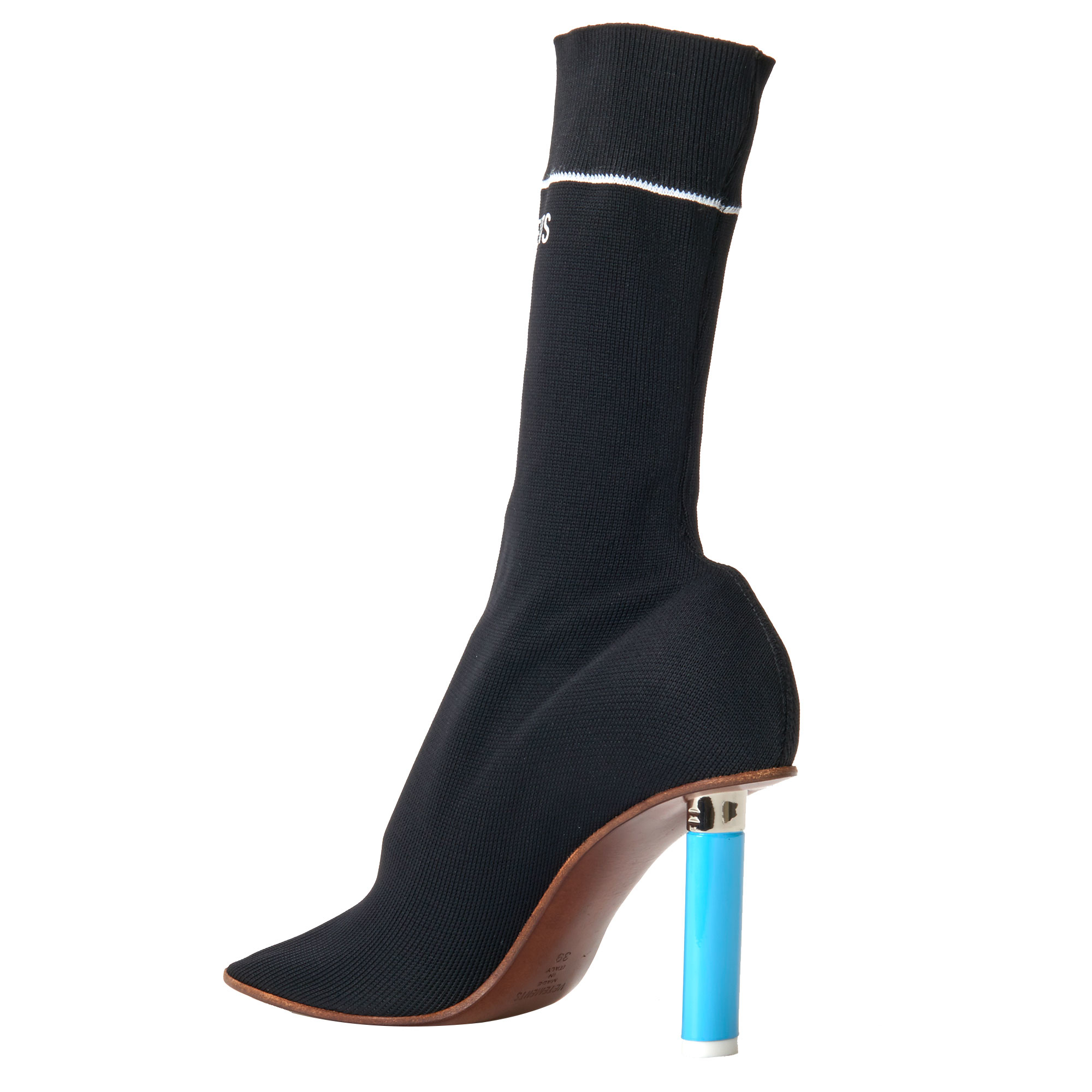 Vetements Sock Ankle Boots In Black Lyst