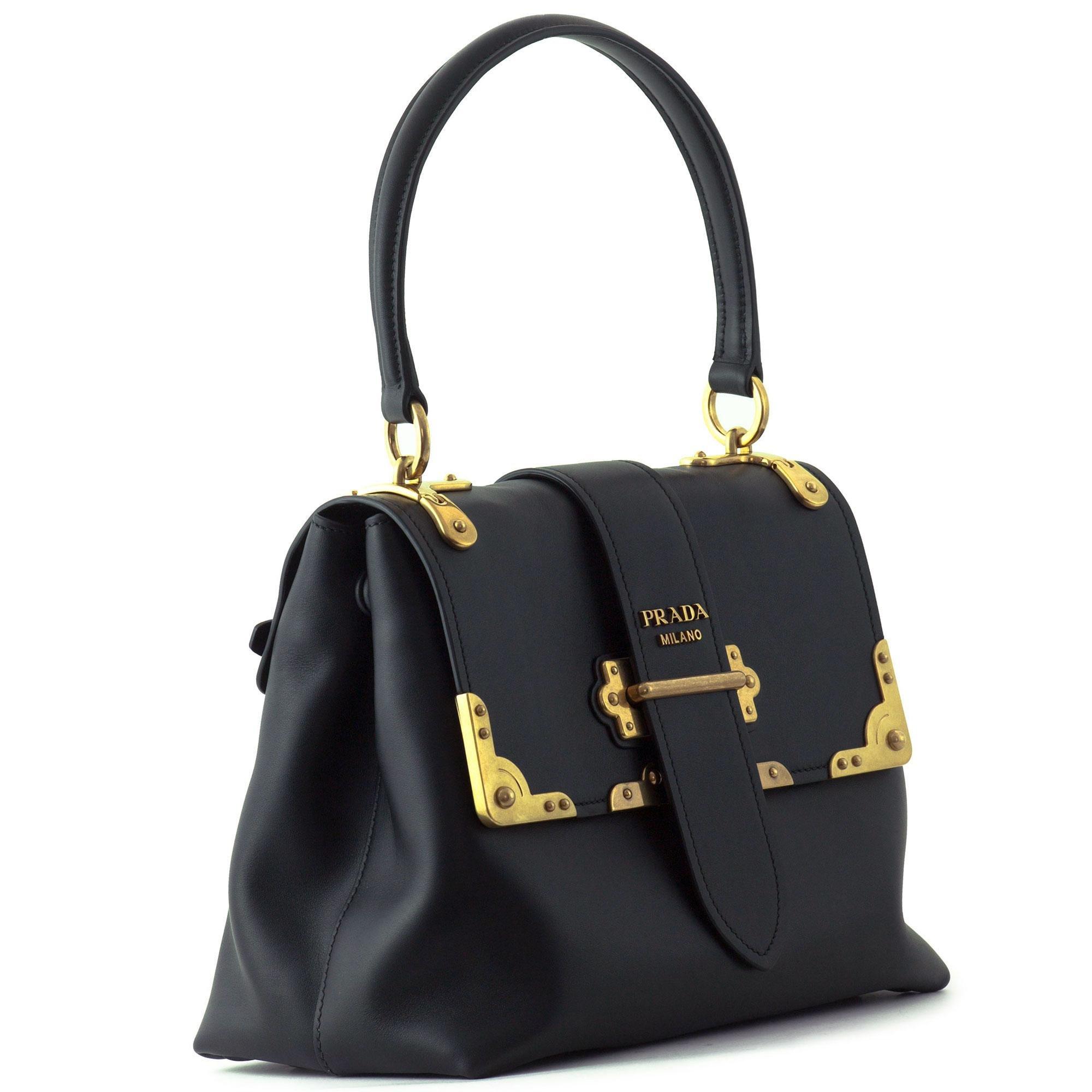 Handbag Lyst Black In Leather Prada xCedoB