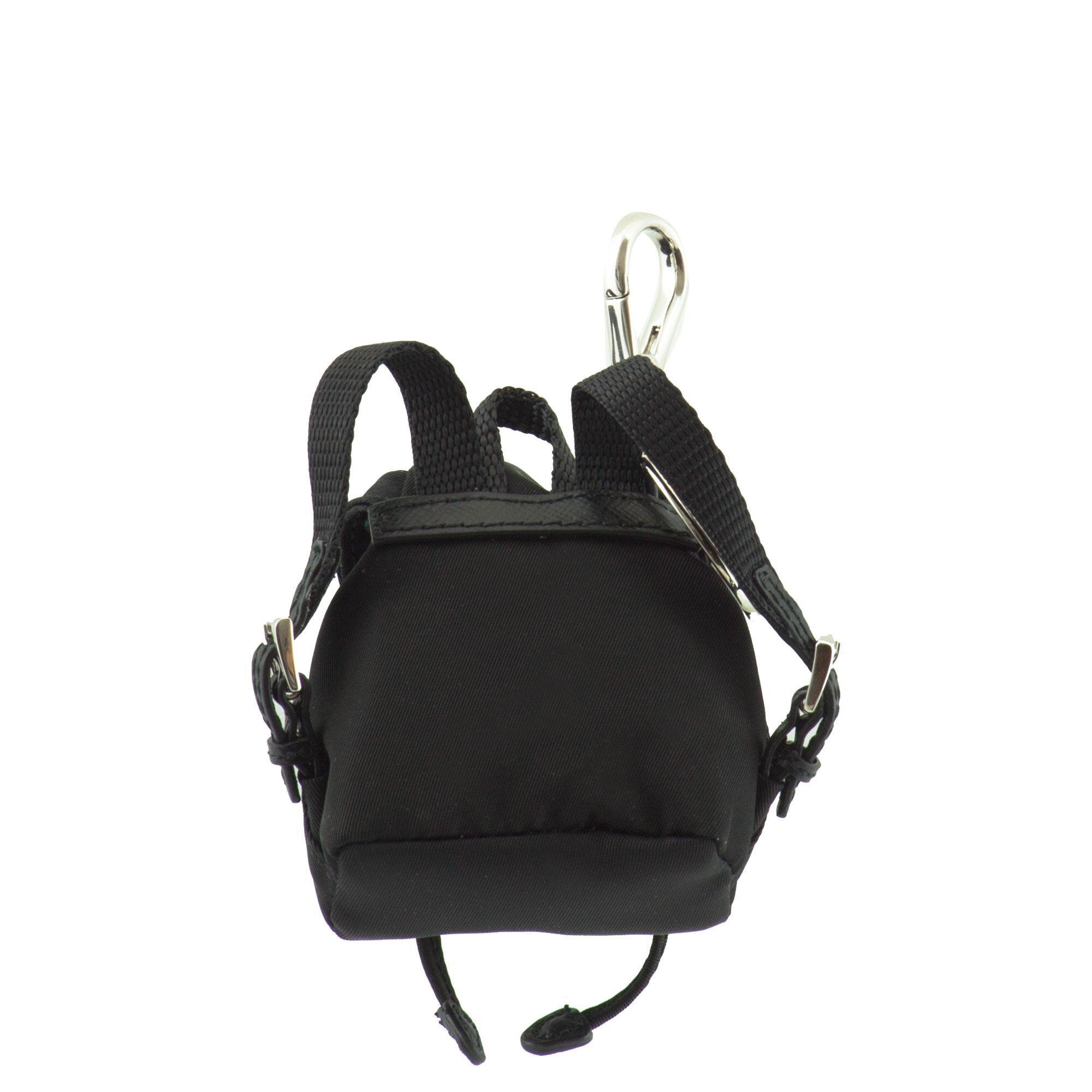 Prada Charm Backpack in Black