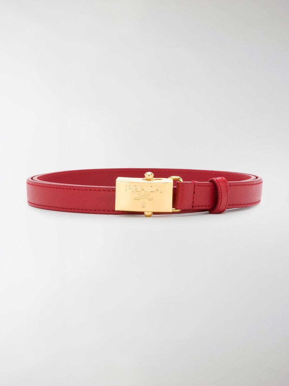 logo plaque belt - Red Prada K0mLoB