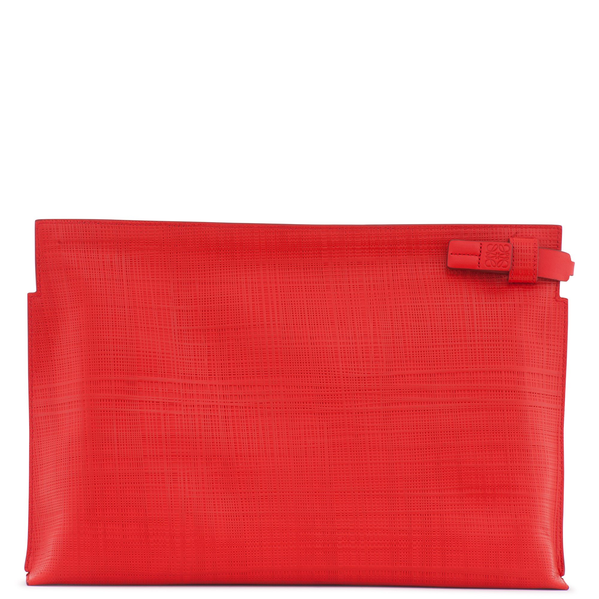 lyst loewe leather pouch ton sur ton in red. Black Bedroom Furniture Sets. Home Design Ideas