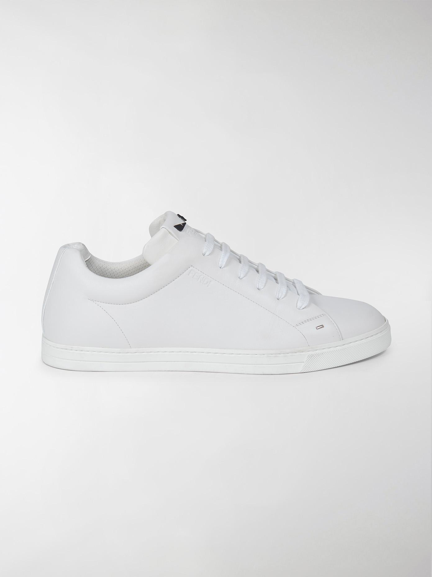 3e8b405165 Fendi White Leather Sneakers Small Eyes for men