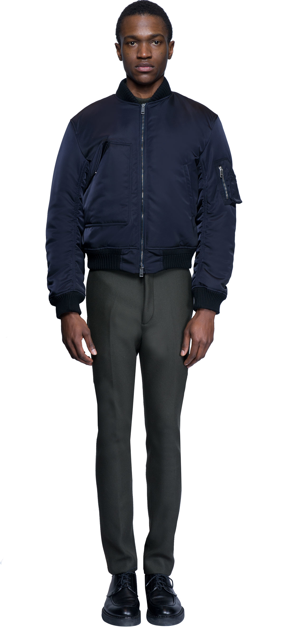 lyst jil sander bomber jacket in blue for men. Black Bedroom Furniture Sets. Home Design Ideas