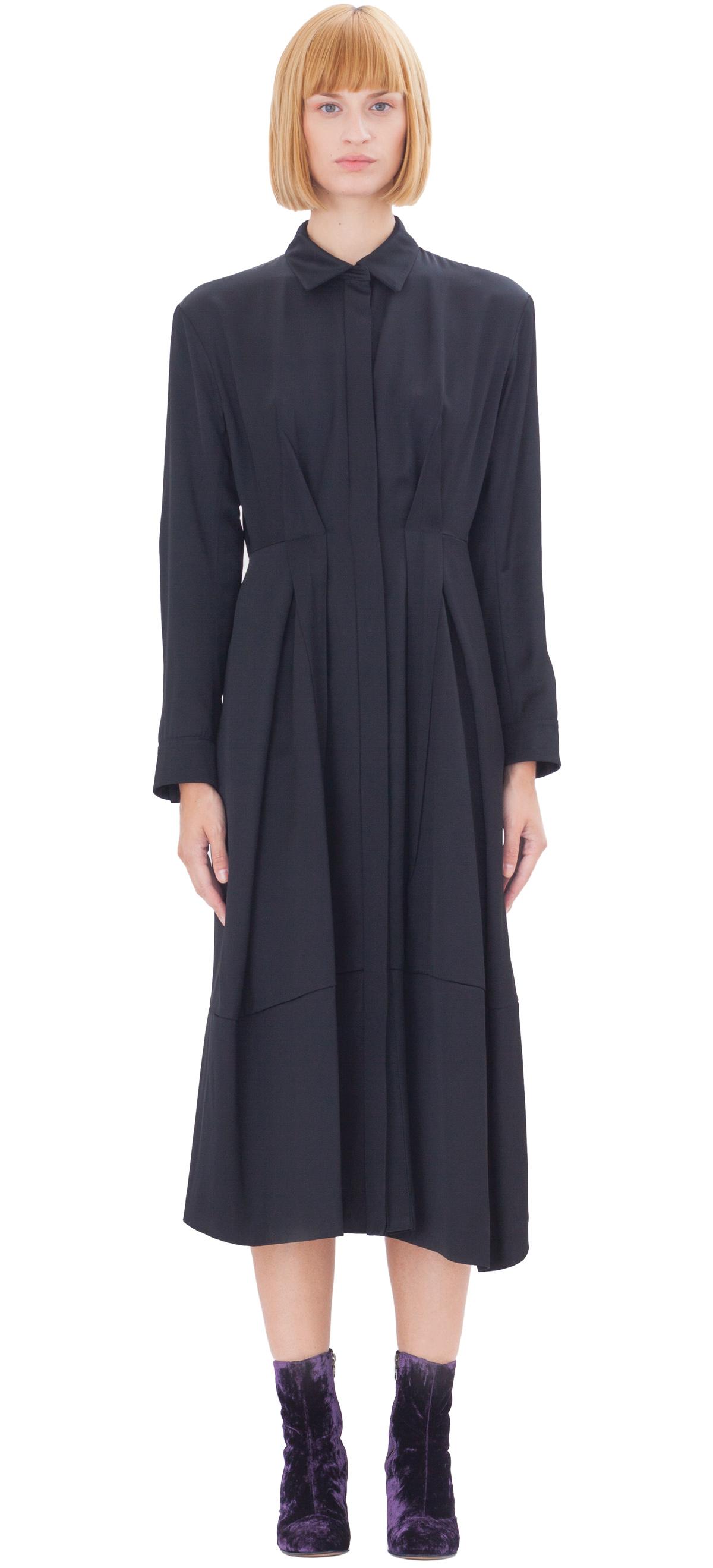 Jil sander Baobab Silk Dress in Black