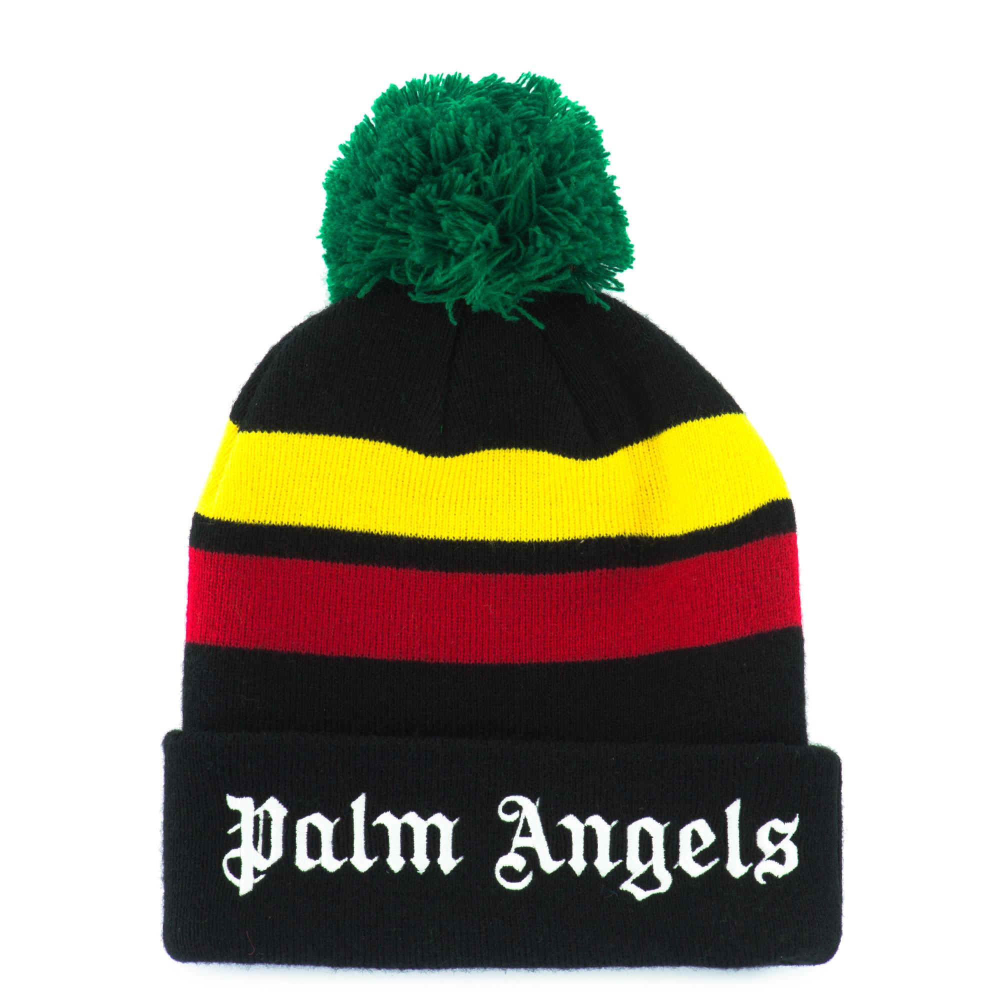 3bbf5241880 Palm Angels Jamaician Striped Jersey Beanie in Black for Men - Lyst