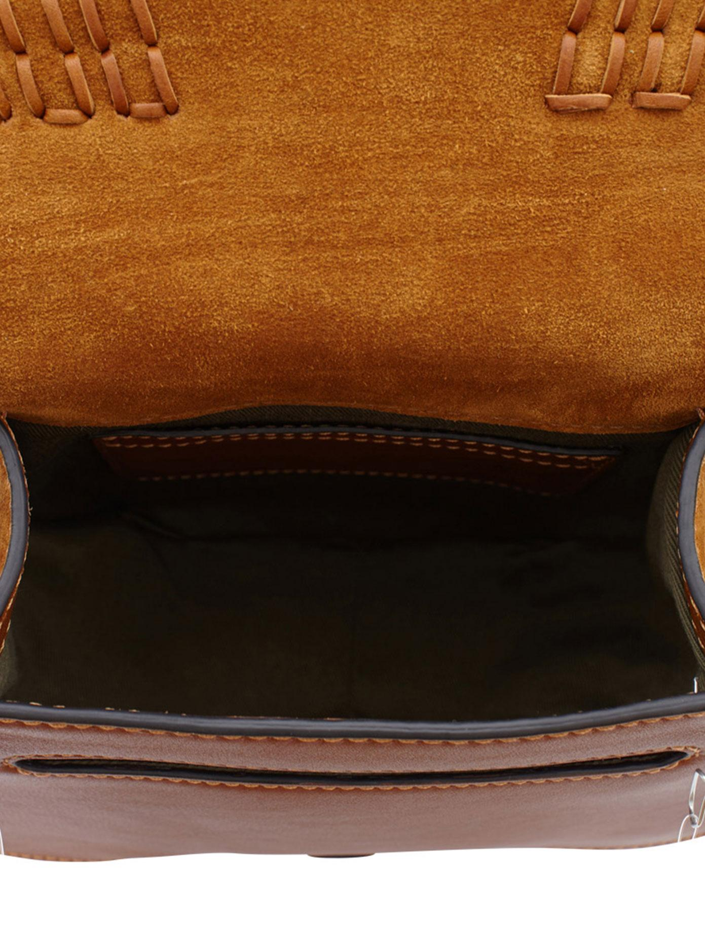 Chloé Suede Small Marcie Cross Body Bag in Brown