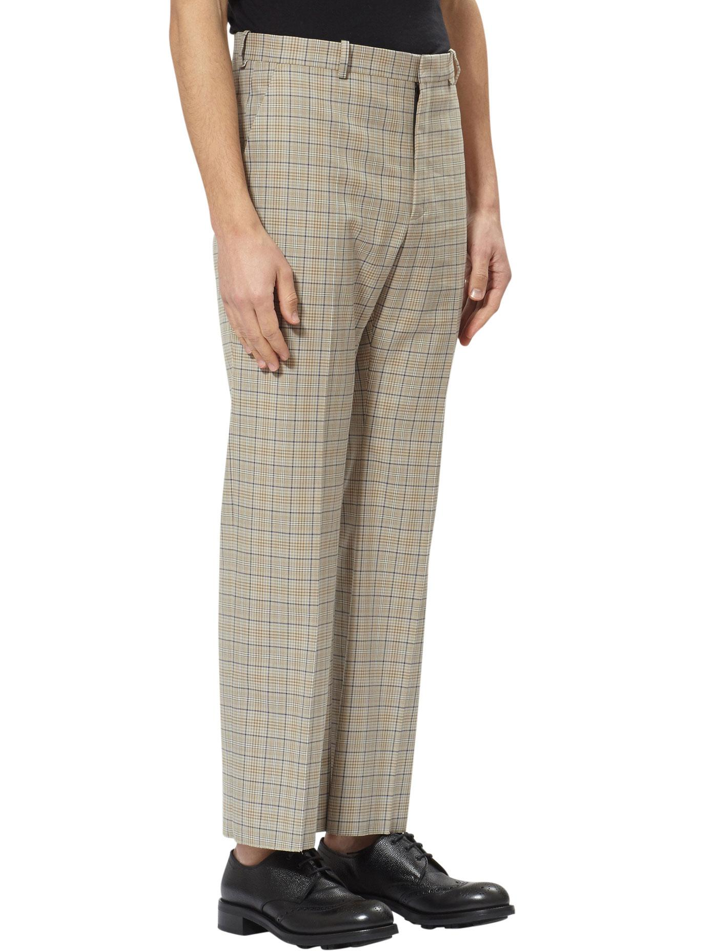 2111aaf6e4db Balenciaga Prince Of Wales Trousers in Natural for Men - Lyst