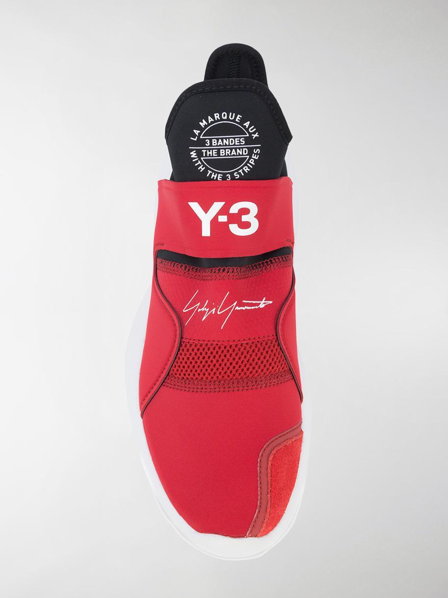 Y-3 Suberou Neoprene Sneakers in Red