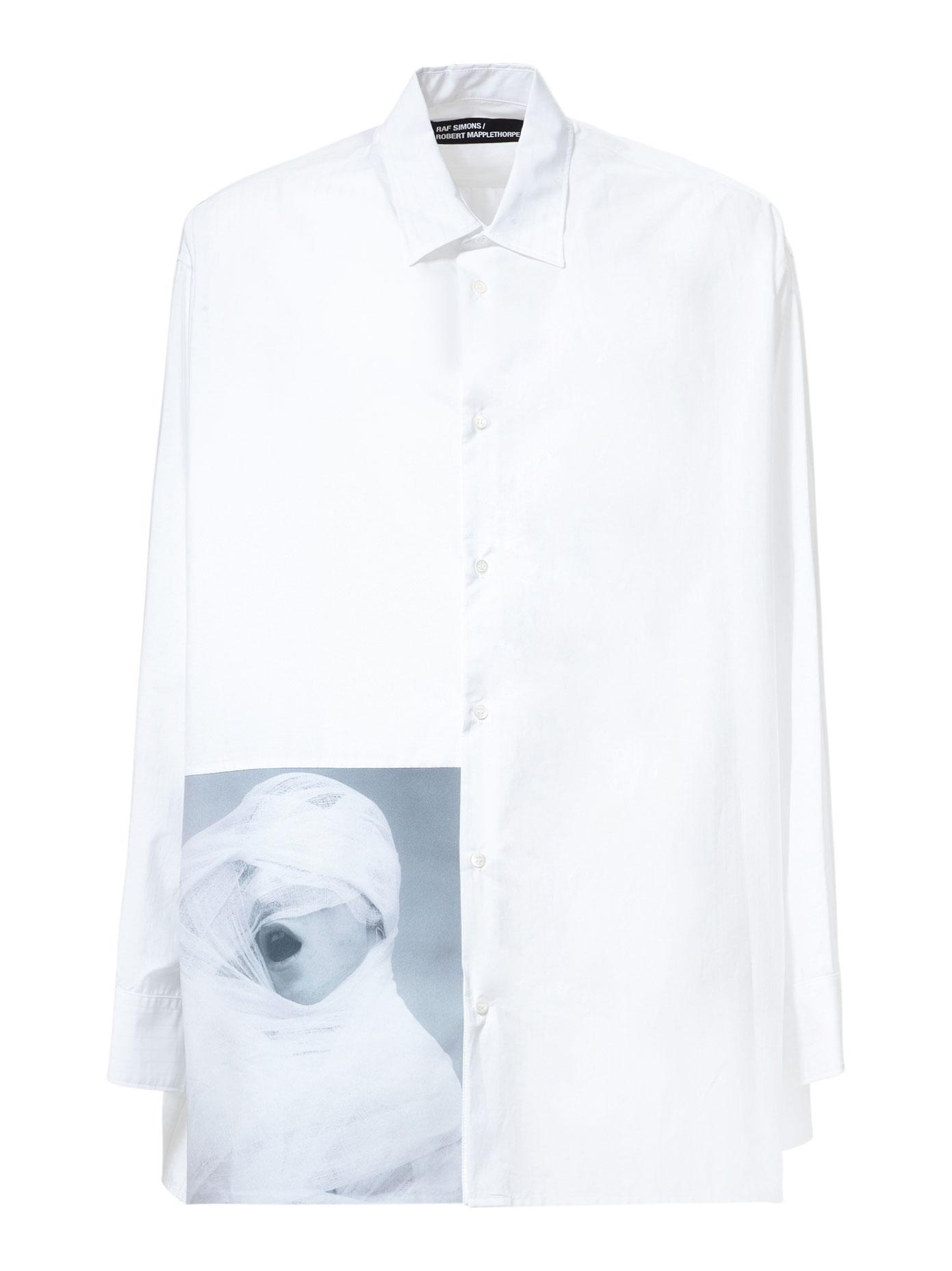 Lyst raf simons robert mapplethorpe white gauze cotton for Raf simons robert mapplethorpe shirt