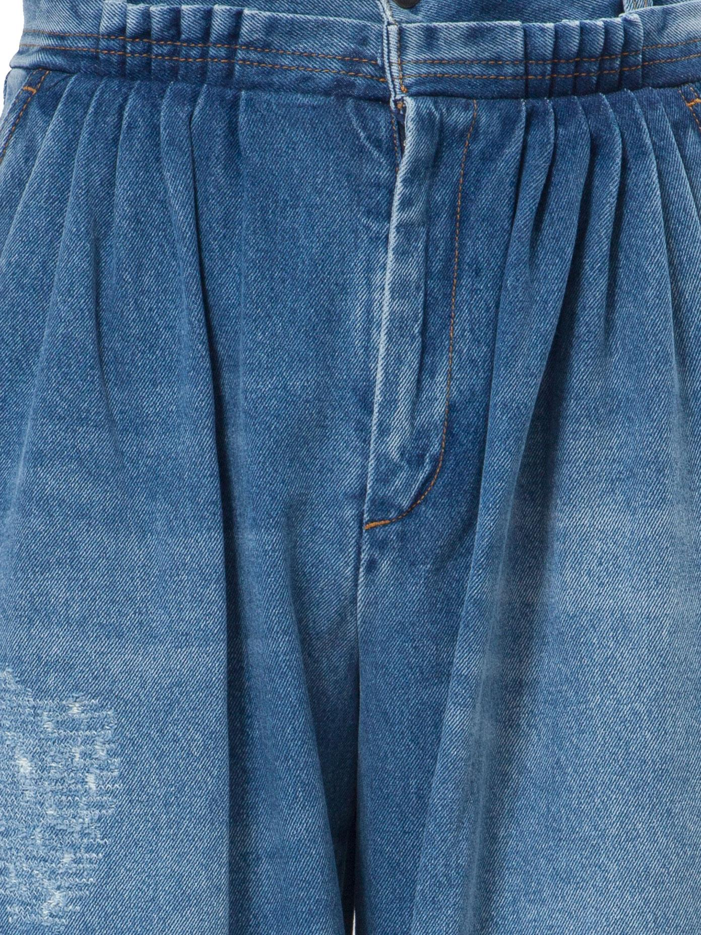 JW Anderson Pleated Denim Trousers in Blue for Men