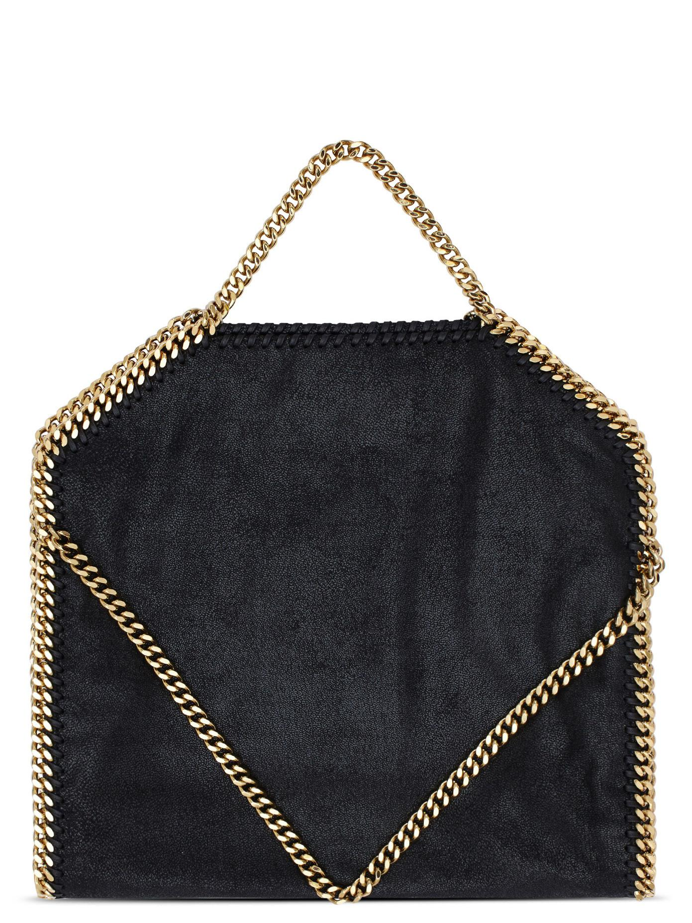 Stella McCartney Falabella Tote In Shaggy Deer in Black