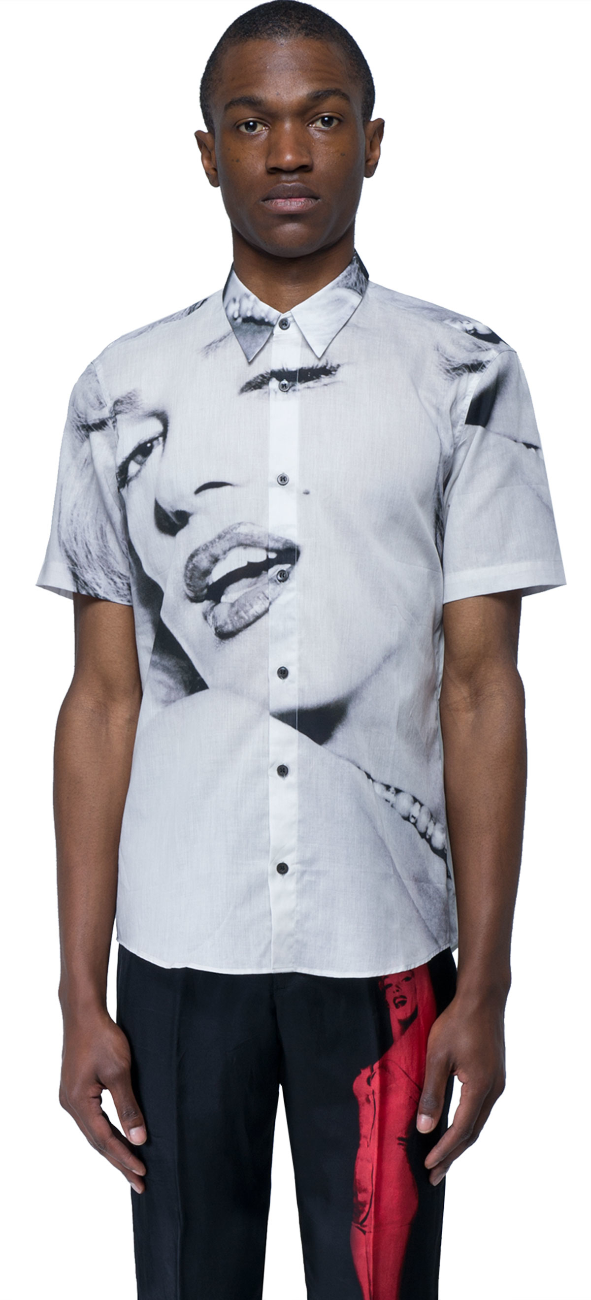 Dries van noten marylin t shirt in white for men lyst for Dries van noten mens shirt
