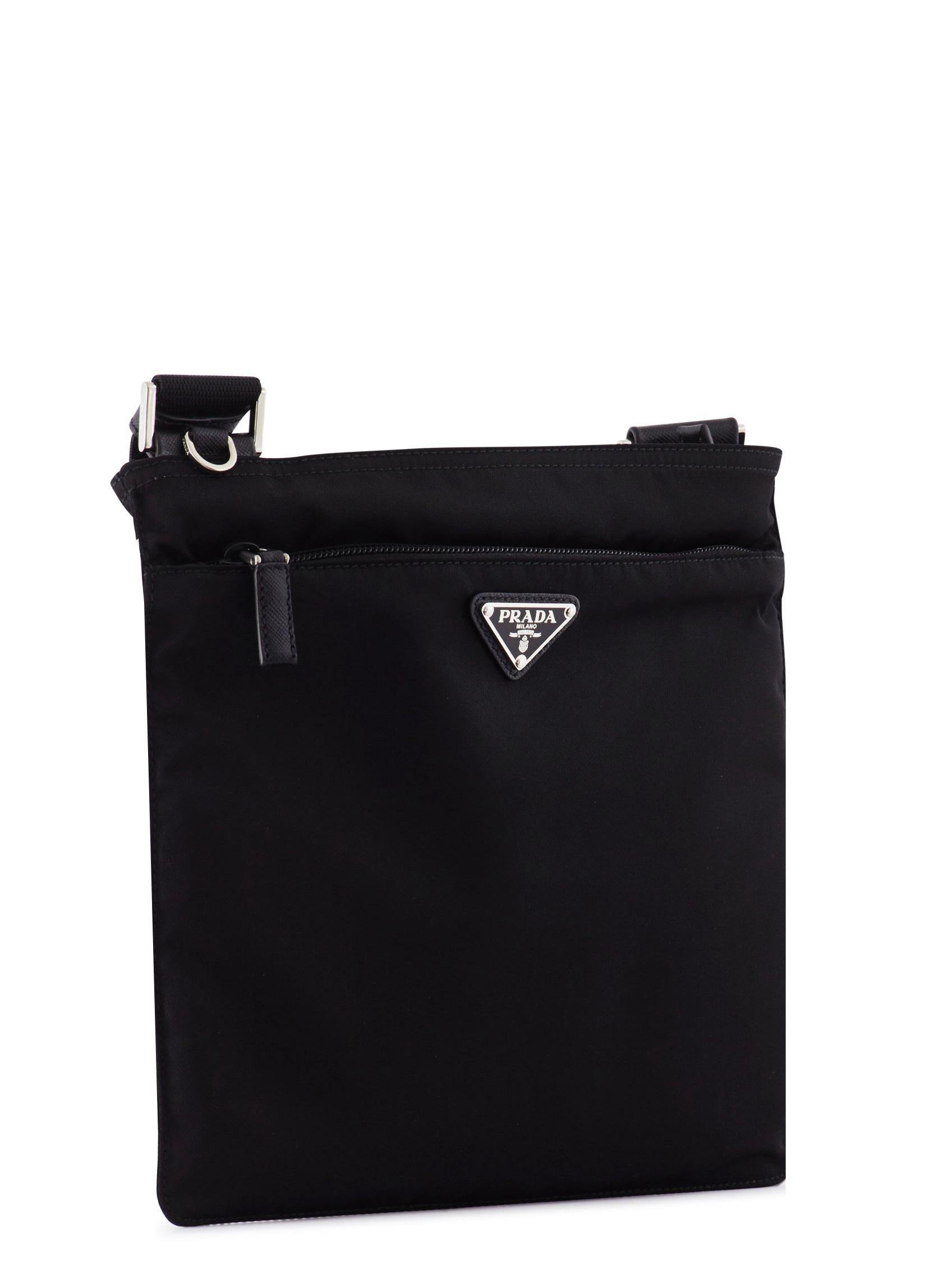Flat Nylon Messenger Bag 20