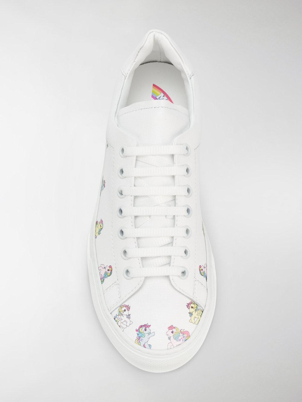 Joshua Sanders My Little Pony Leather Sneakers in White