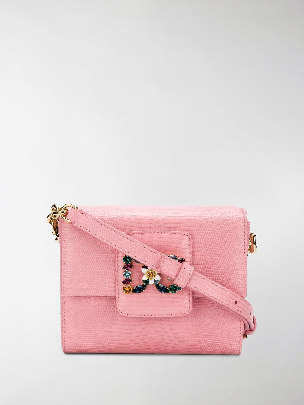 Dolce & Gabbana Leather Dg Millennials Mini Crossbody Bag in Pink