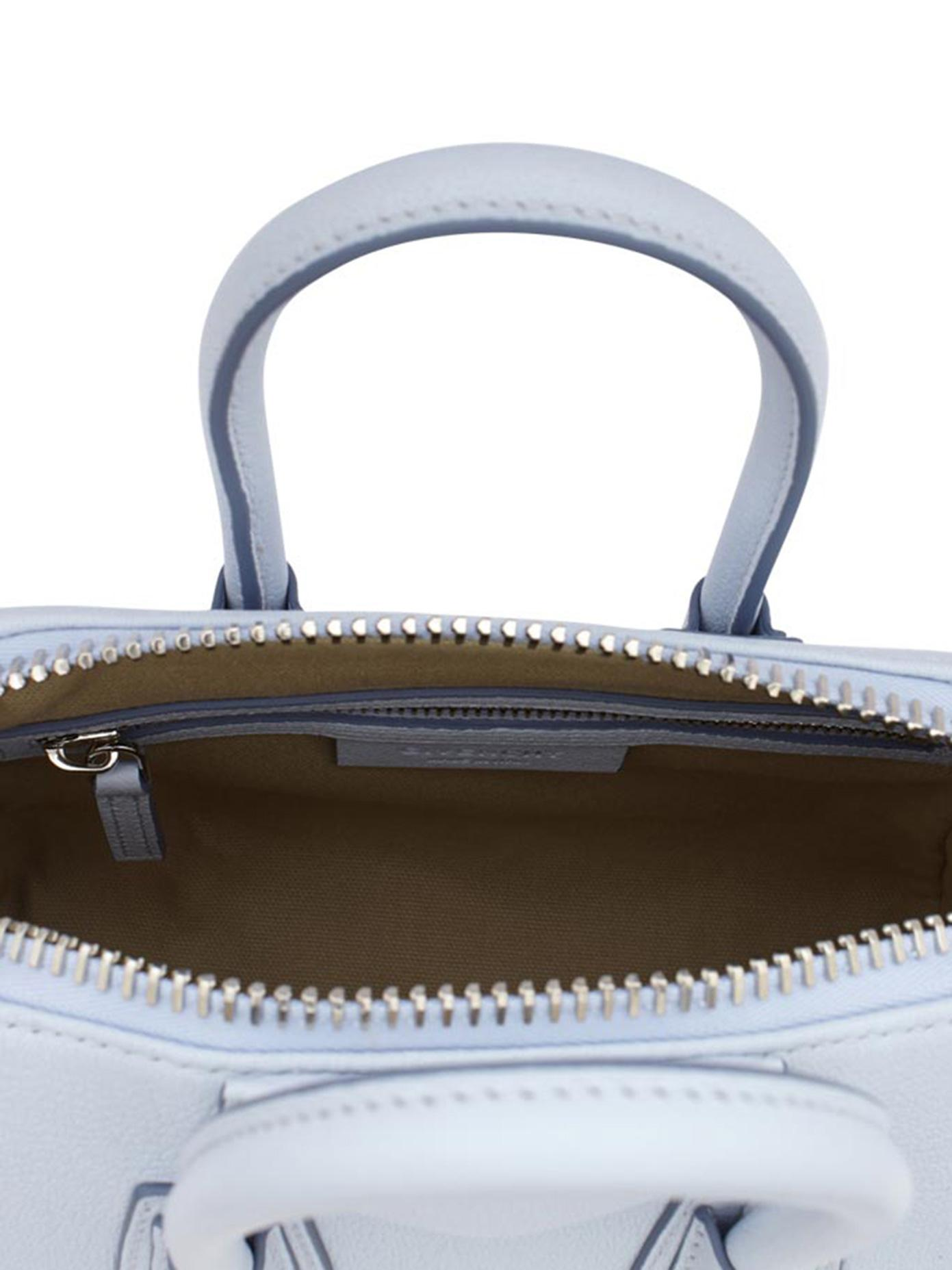 ... Lyst - Givenchy Antigona Mini Leather Satchel in Blue new arrival f8ab1  f00a6 ... 84b6e4bf10