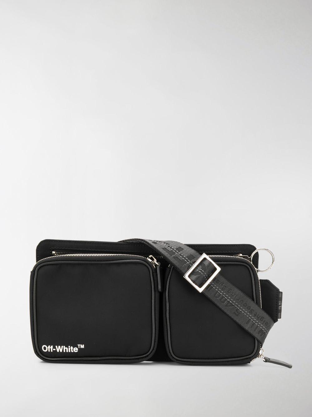 ae94c782e46 Off-White c o Virgil Abloh Logo-print Belt Bag in Black for Men - Lyst