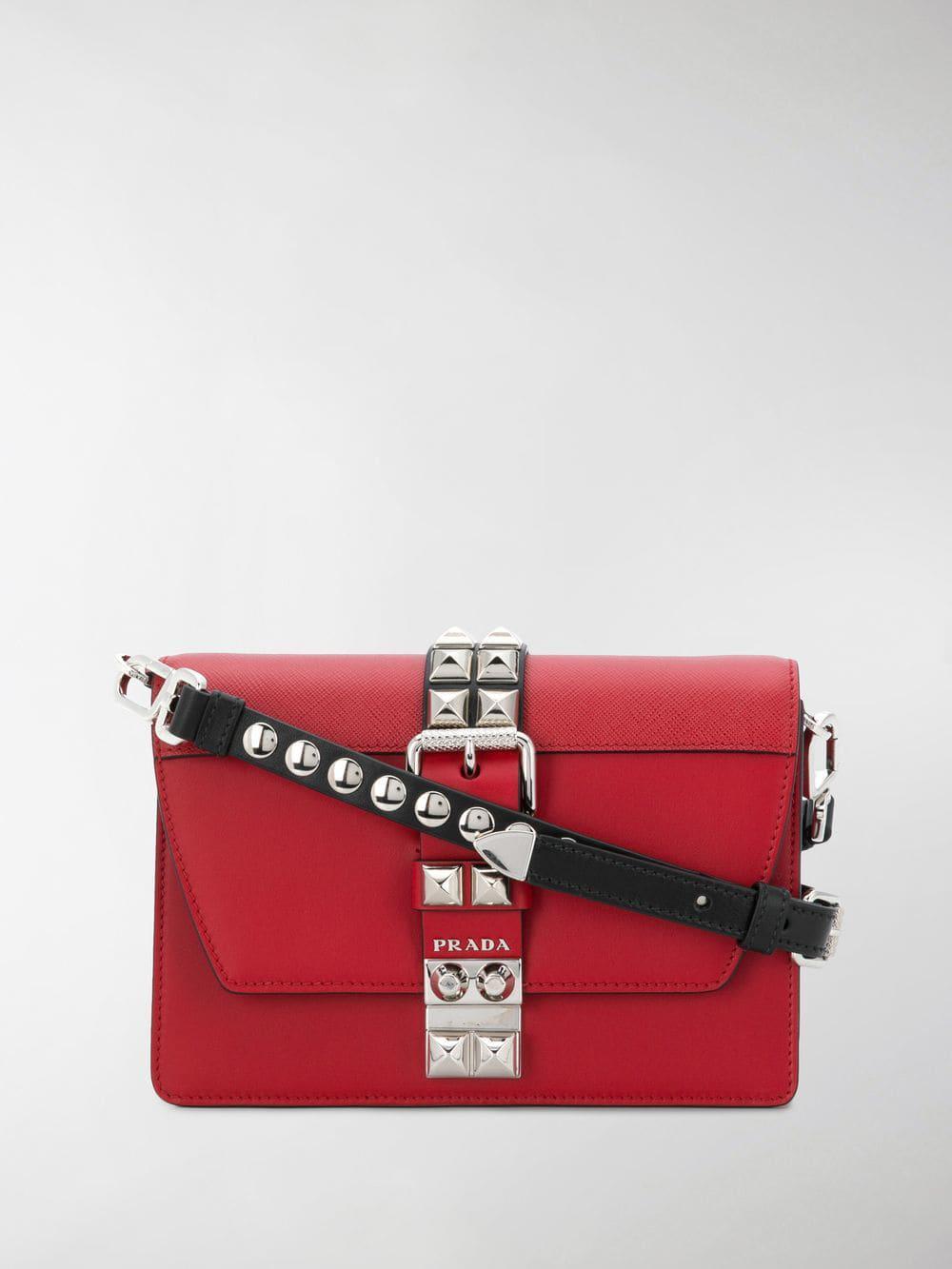 ffec0c709e95 Prada - Women's Red Elektra Small Leather Shoulder Bag - Lyst. View  fullscreen