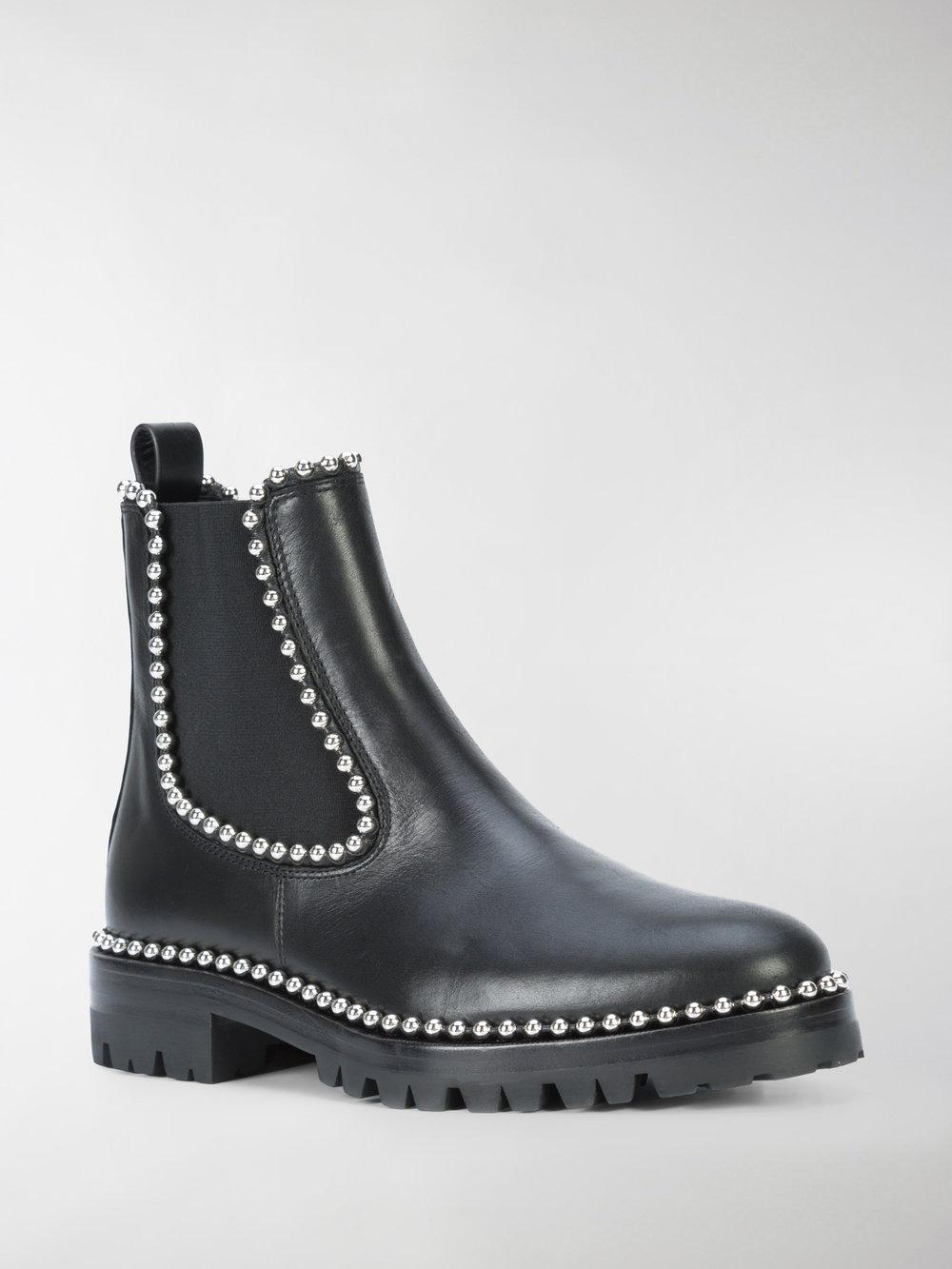 Alexander Wang Leather Spencer Chelsea Boot in Black