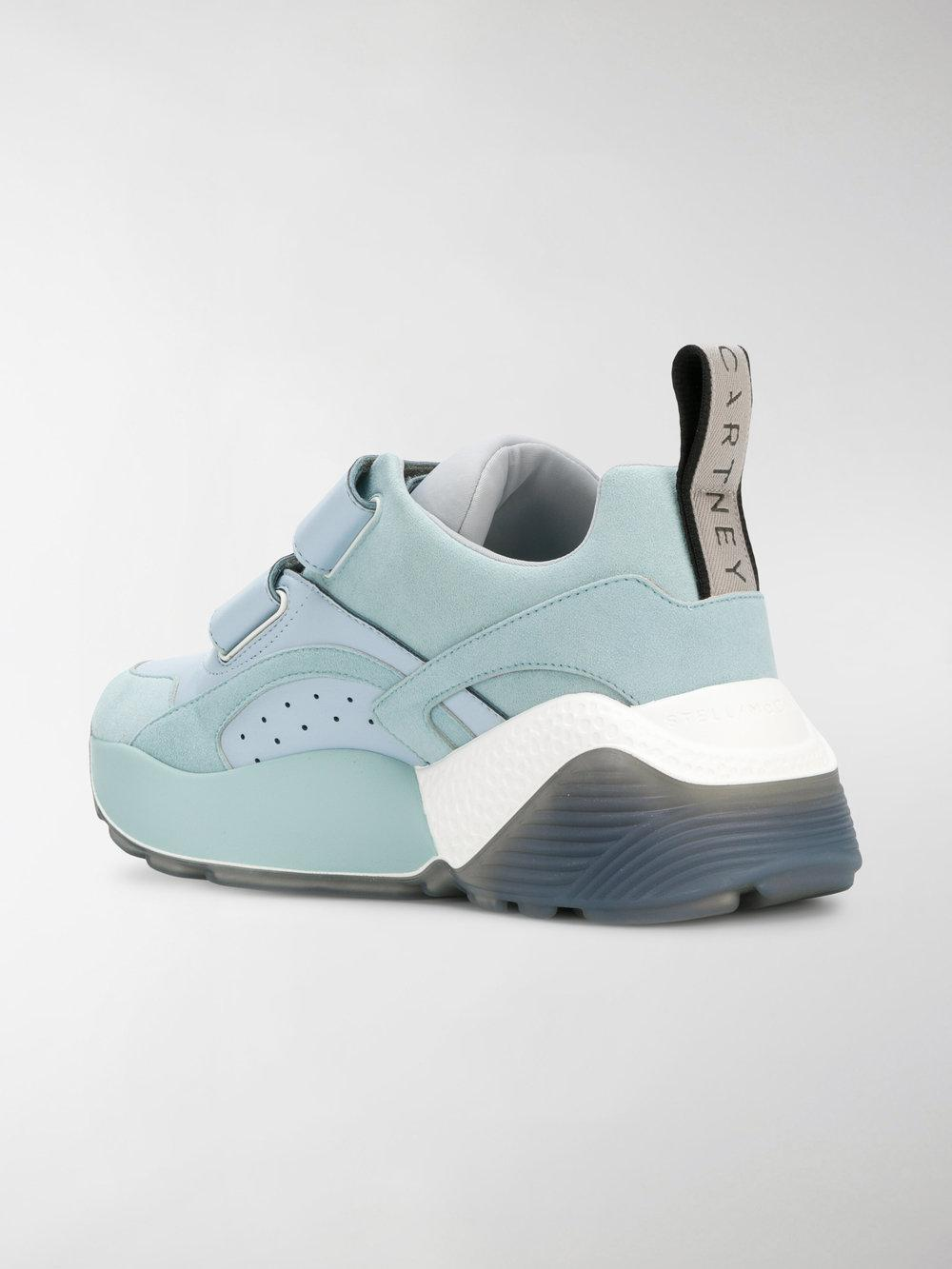 Stella McCartney Synthetic Touch Strap Sneakers in Grey (Grey)