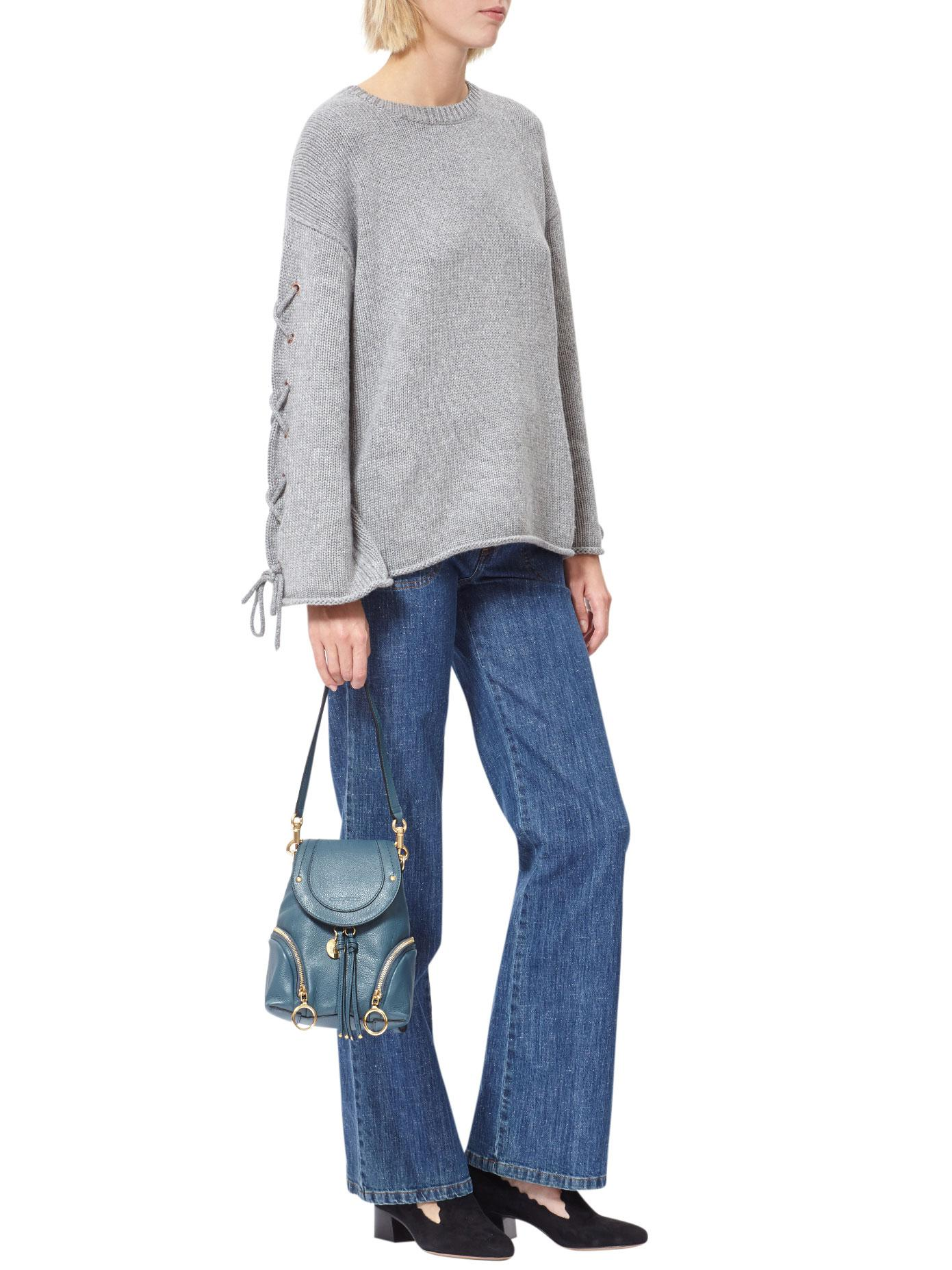 246a865d See By Chloé Blue Olga Small Leather Backpack