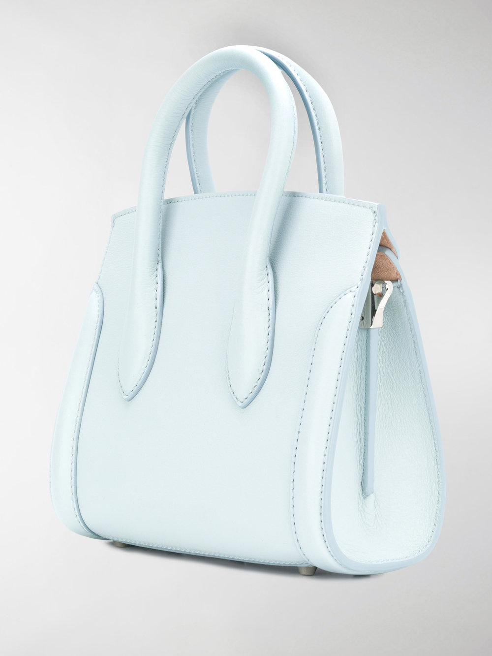 Alexander McQueen Leather Heroine 21 Crossbody Bag in Blue