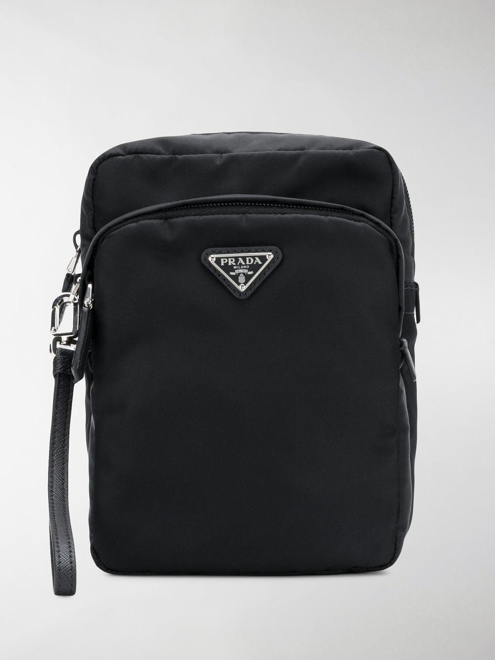 20e53a7887b6 sweden prada black saffiano messenger bag for men lyst. view fullscreen  1f58d 3d427