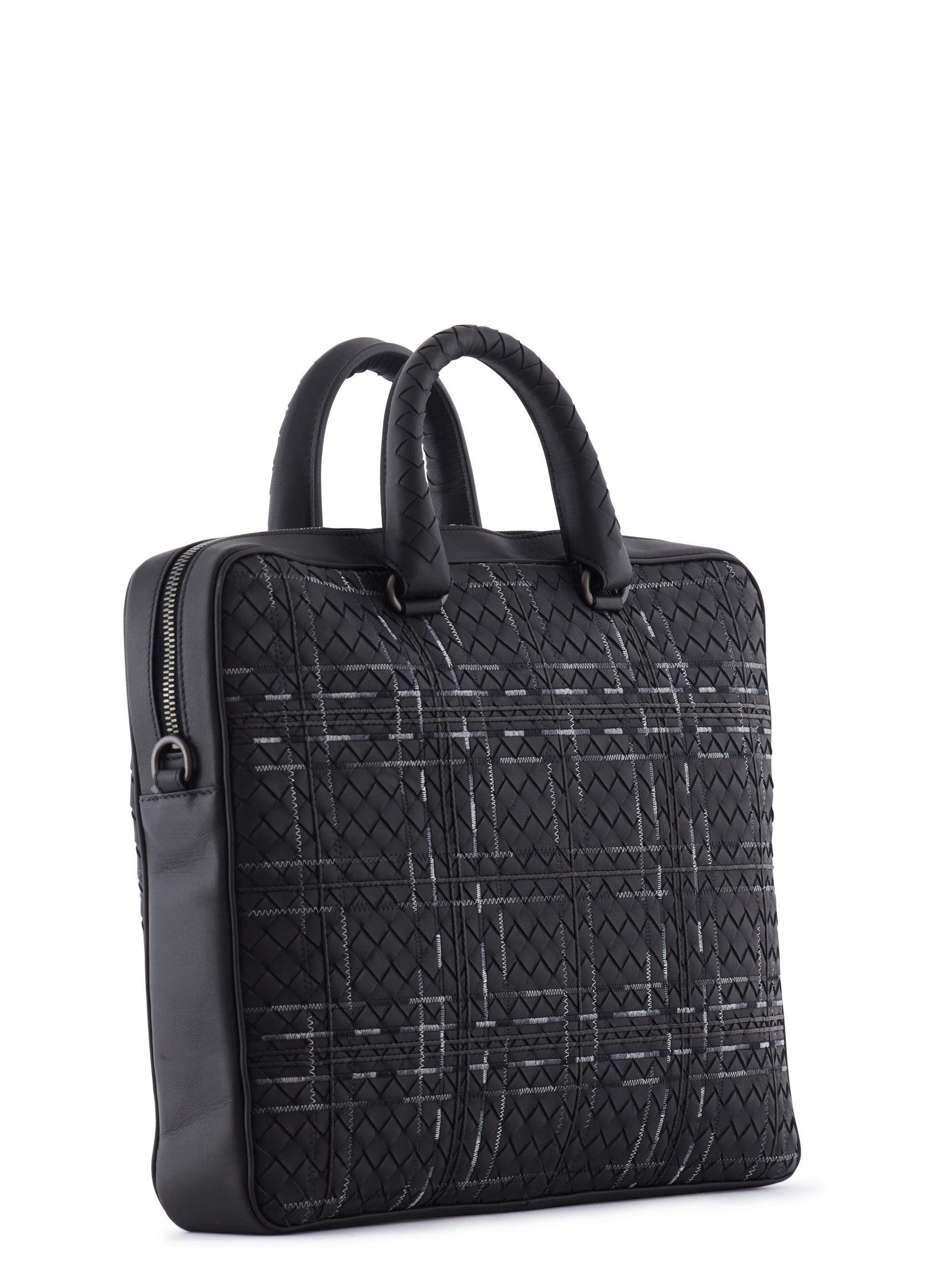 aaa7687b8787 Lyst - Bottega Veneta Metropolis Briefcase in Black for Men